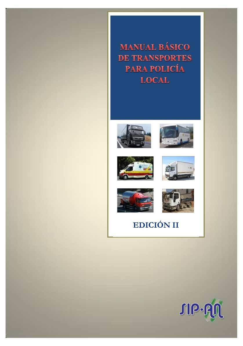 MANUAL BÁSICO DE TRANSPORTES PARA POLICÍA LOCAL 2ª EDICIÓN