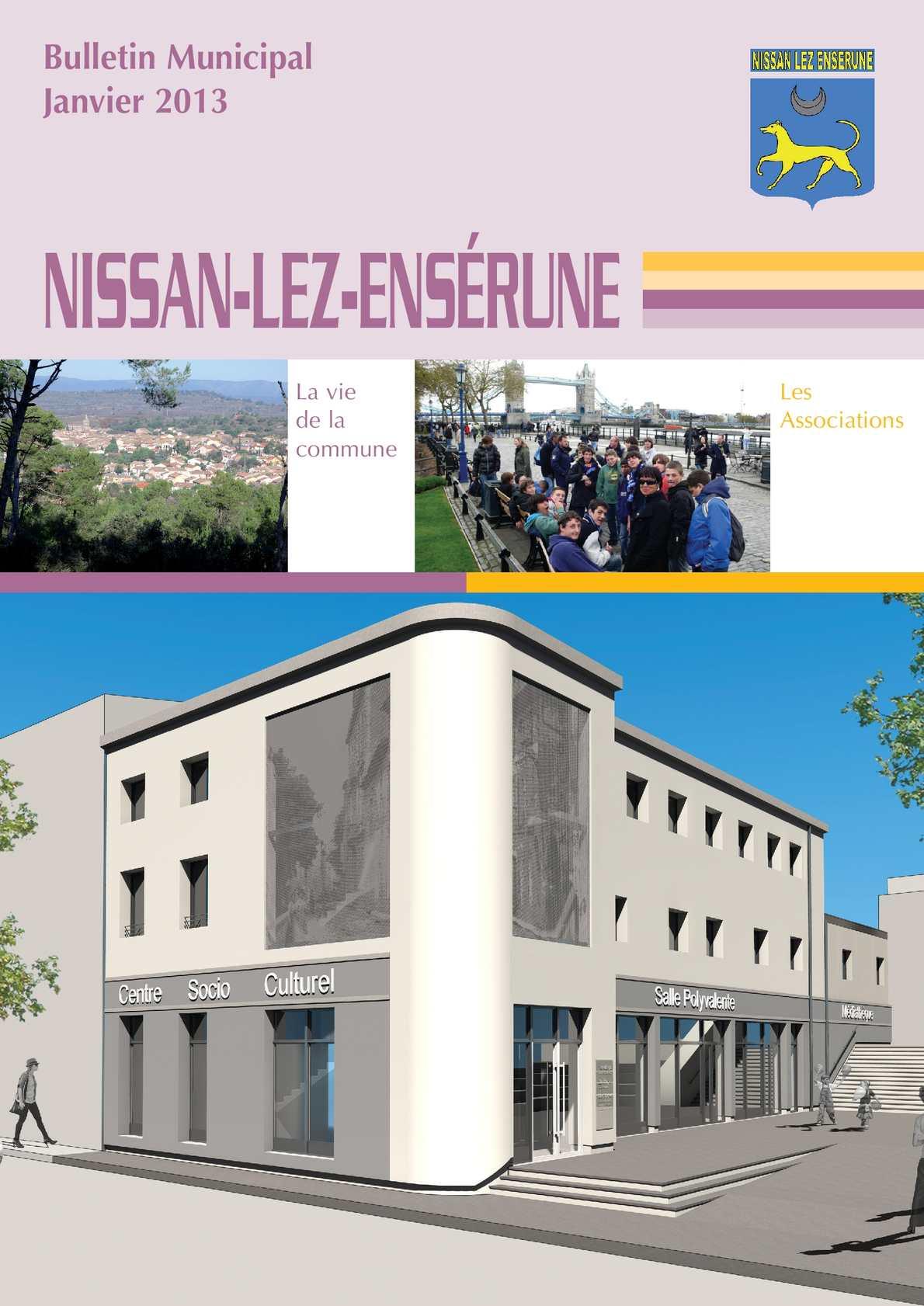 calam o bulletin municipal 2013 de la commune de nissan lez ens rune. Black Bedroom Furniture Sets. Home Design Ideas