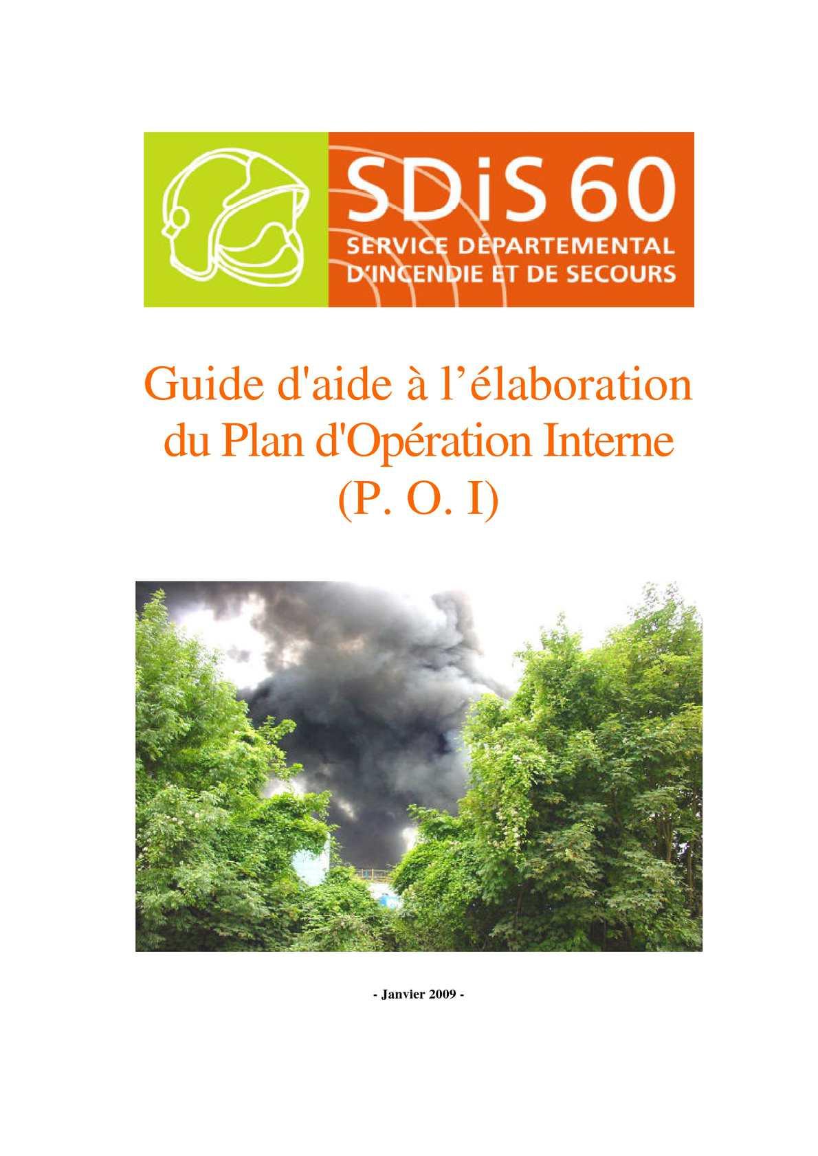 Guide d'aide à l'élaboration d'un plan d'opération interne (POI)