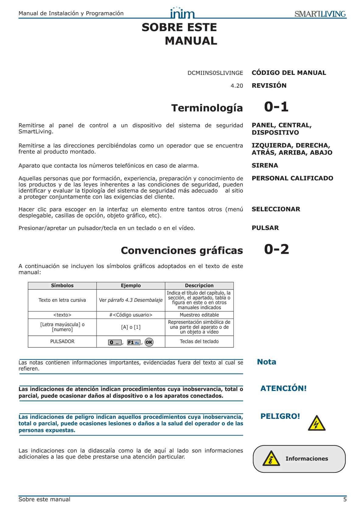 MANUAL DE INSTALACION Y PROGRAMACION SMART LIVIN INIM - CALAMEO ...