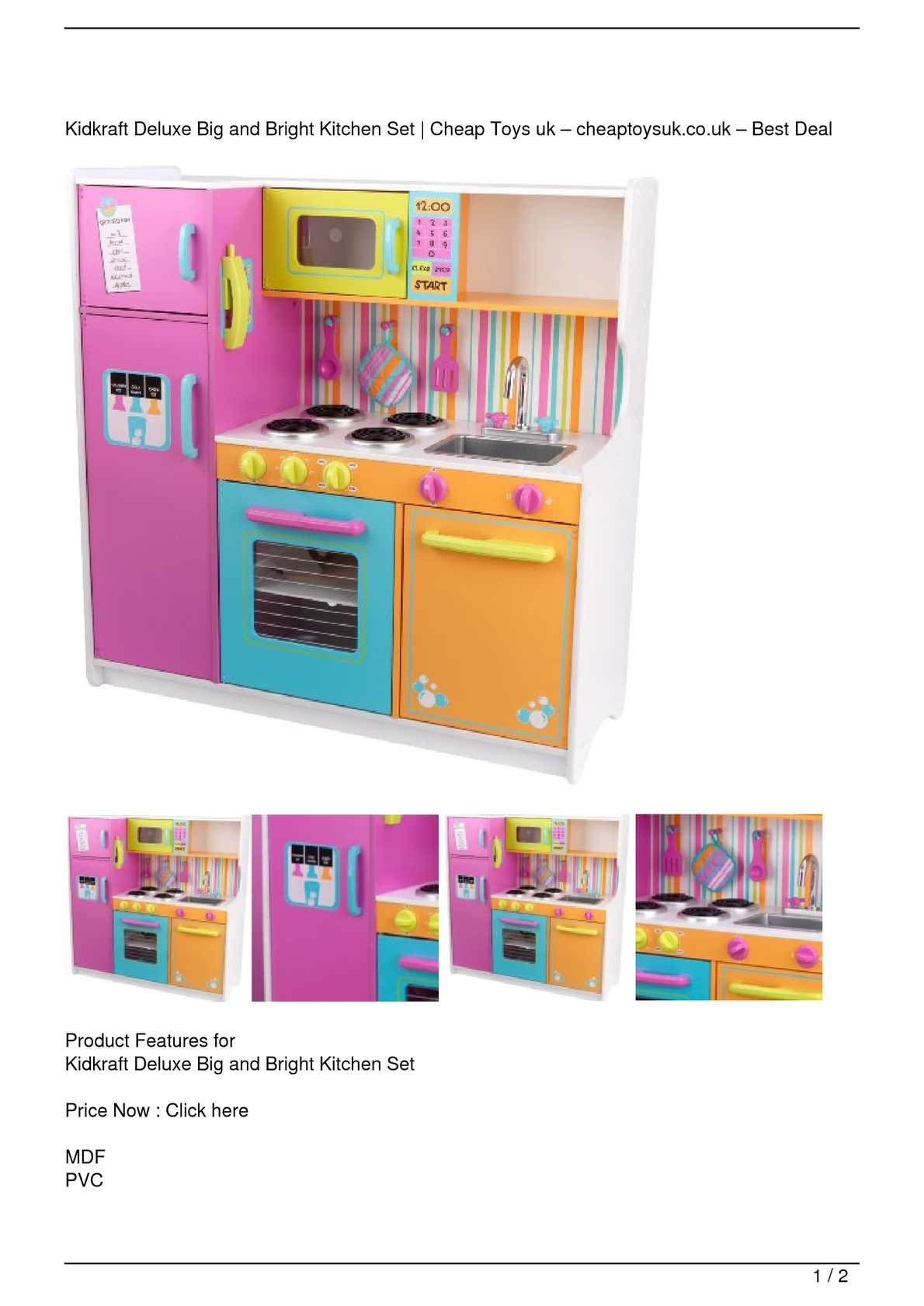 Calaméo   Kidkraft Deluxe Big And Bright Kitchen Set Big SALE