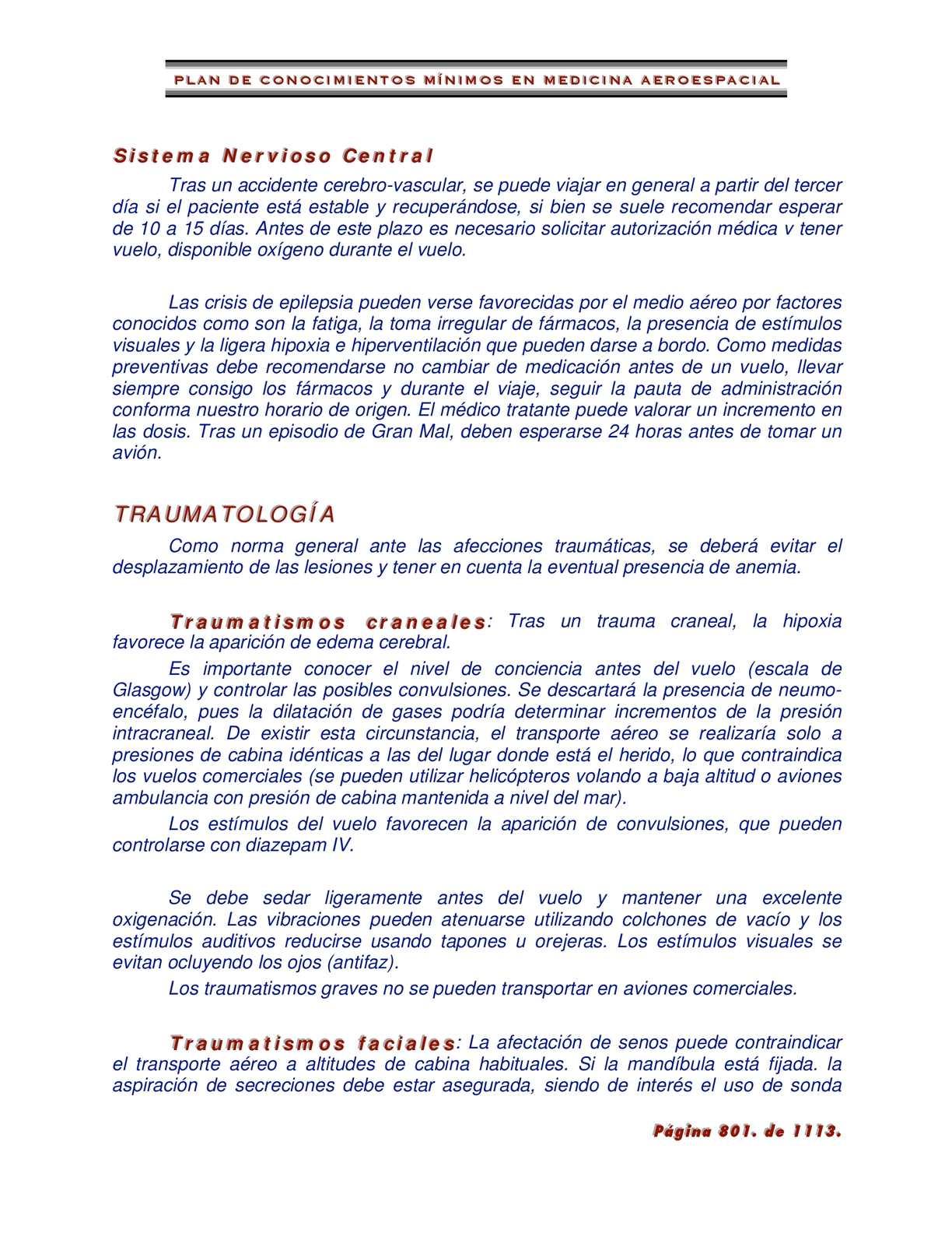 Calaméo - Plan de Conocimientos Mínimos en Medicina Aeroespacial 3ª ...
