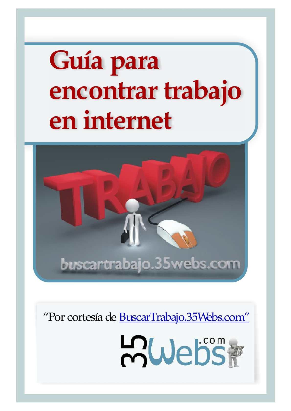 Calaméo - Guia para encontrar trabajo en internet