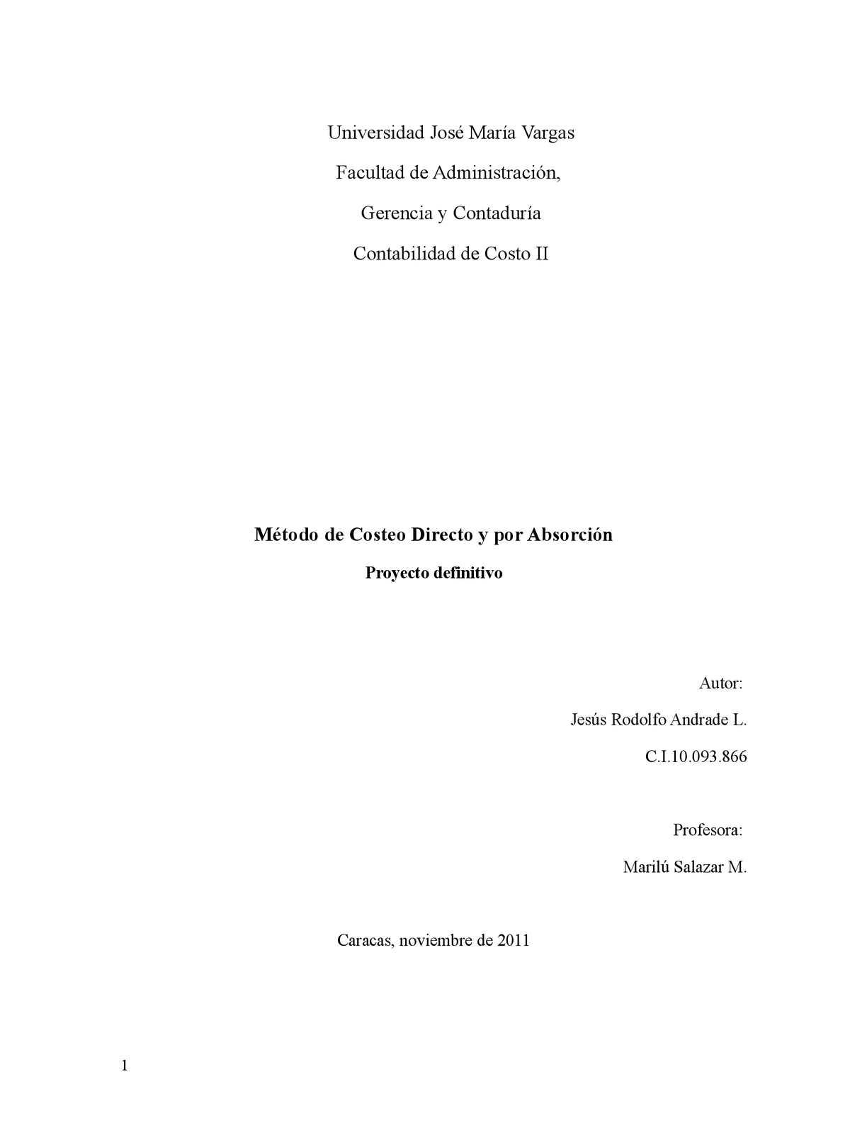 Método de Costeo Directo y por Absorción