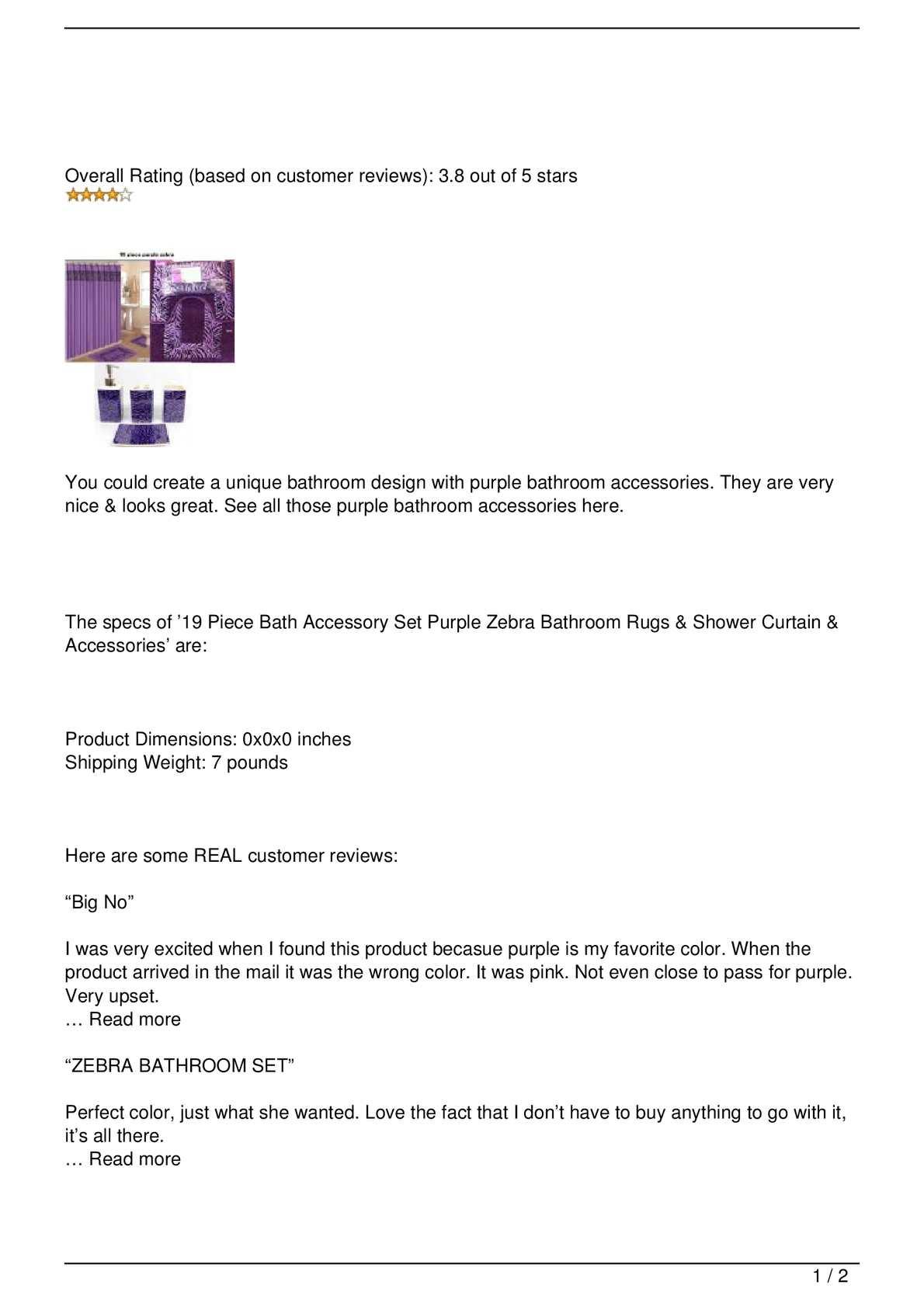 Calaméo - Purple Bathroom Accessories