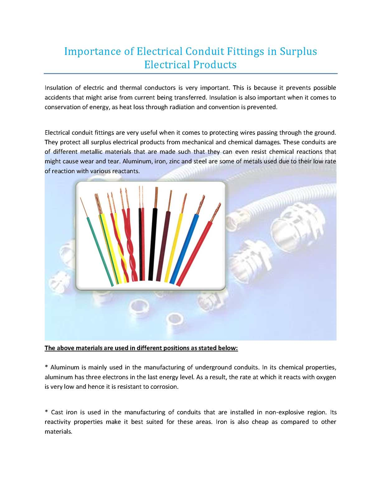 Calamo Importance Of Electrical Conduit Fittings In Surplus Pictures Products