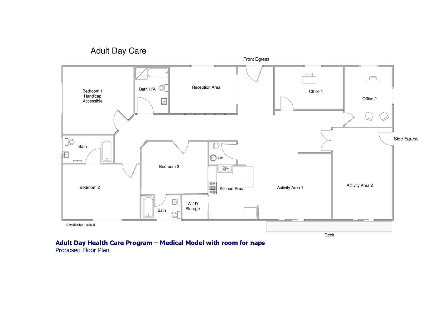 Calam O Adult Day Care Sample Floor Plan