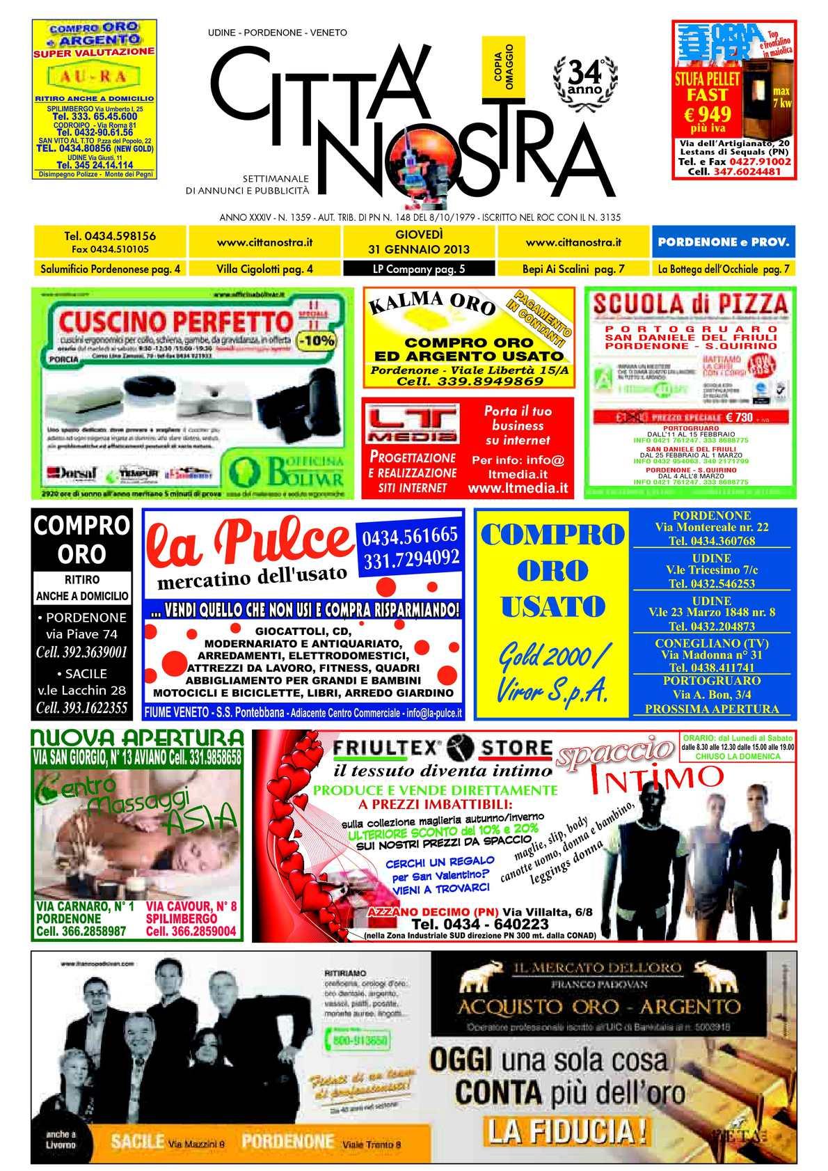 Calaméo Citt Nostra Pordenone Del 31 01 2013 N 1359