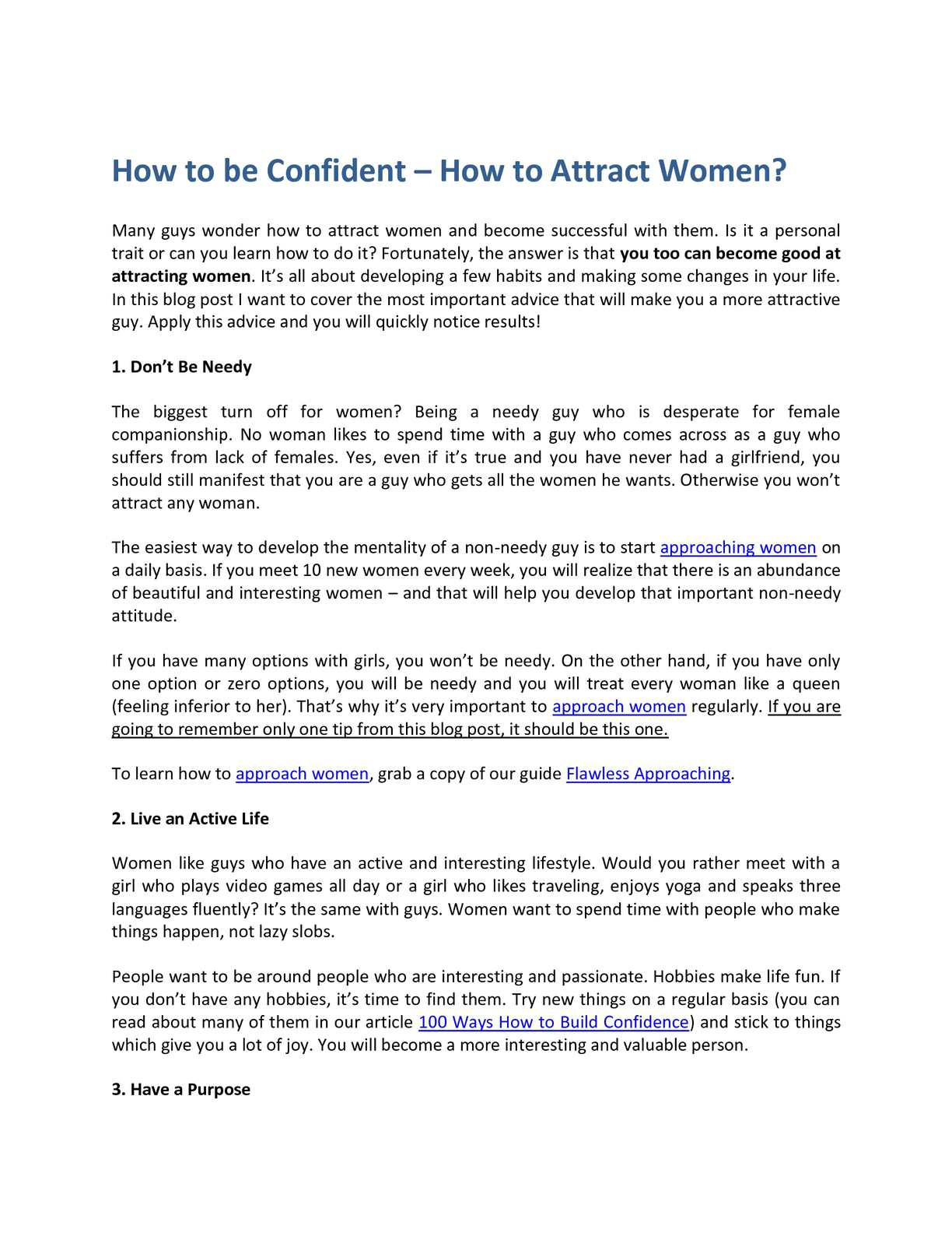 how to be more confident with guys
