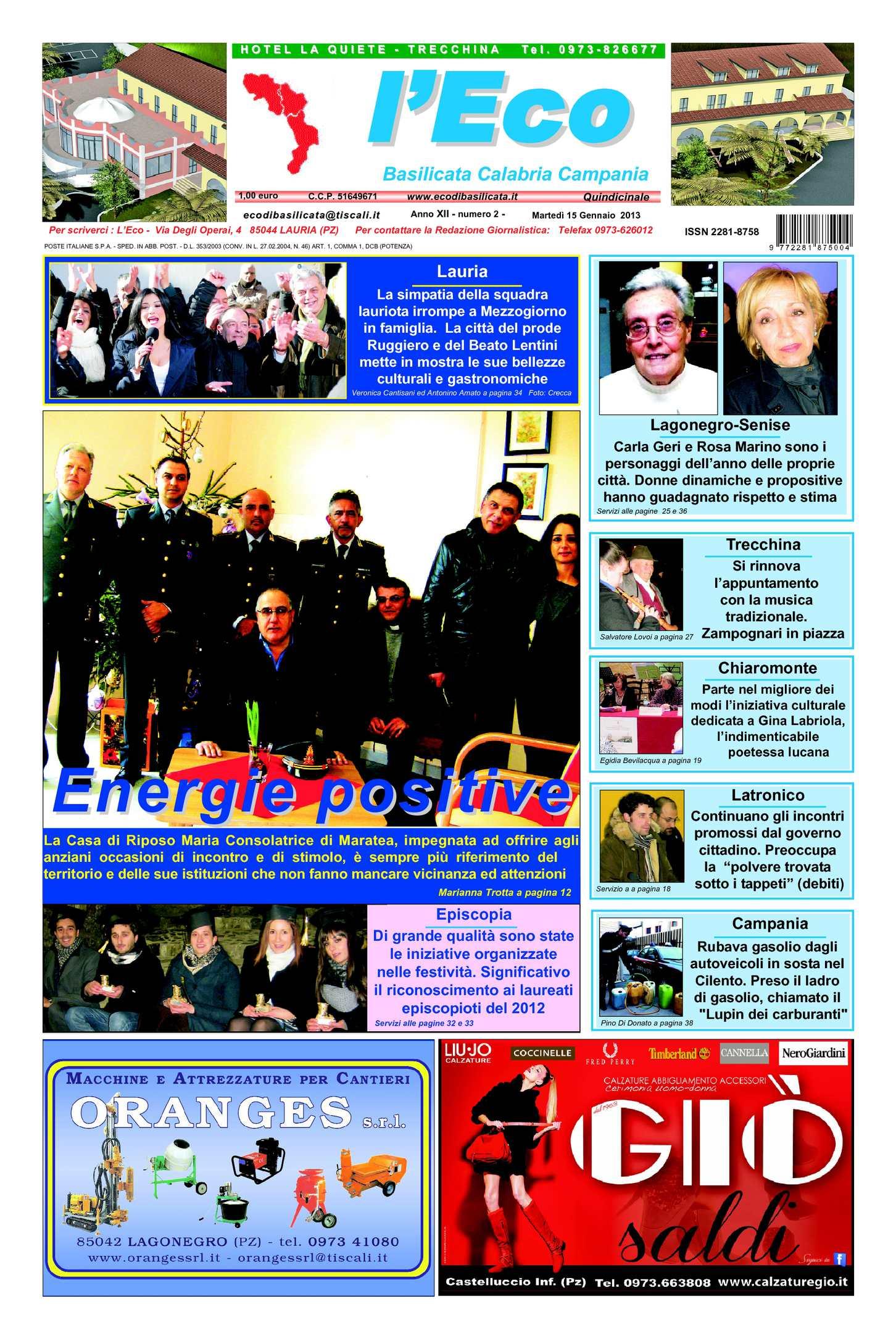 l'Eco anno XII n.2 – 15/01/2013