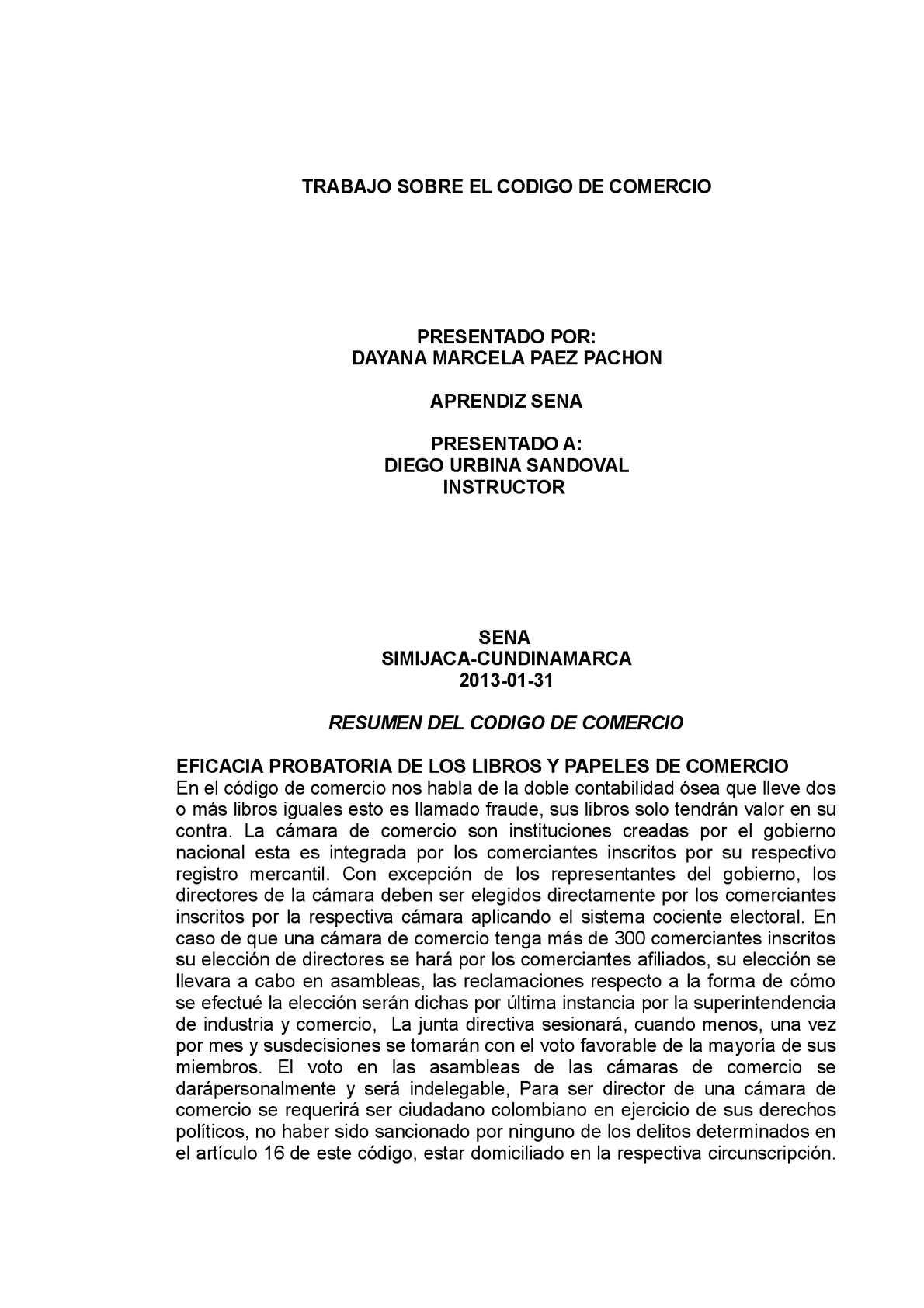Calaméo - RESUMEN DEL CODIGO DE COMERCIO