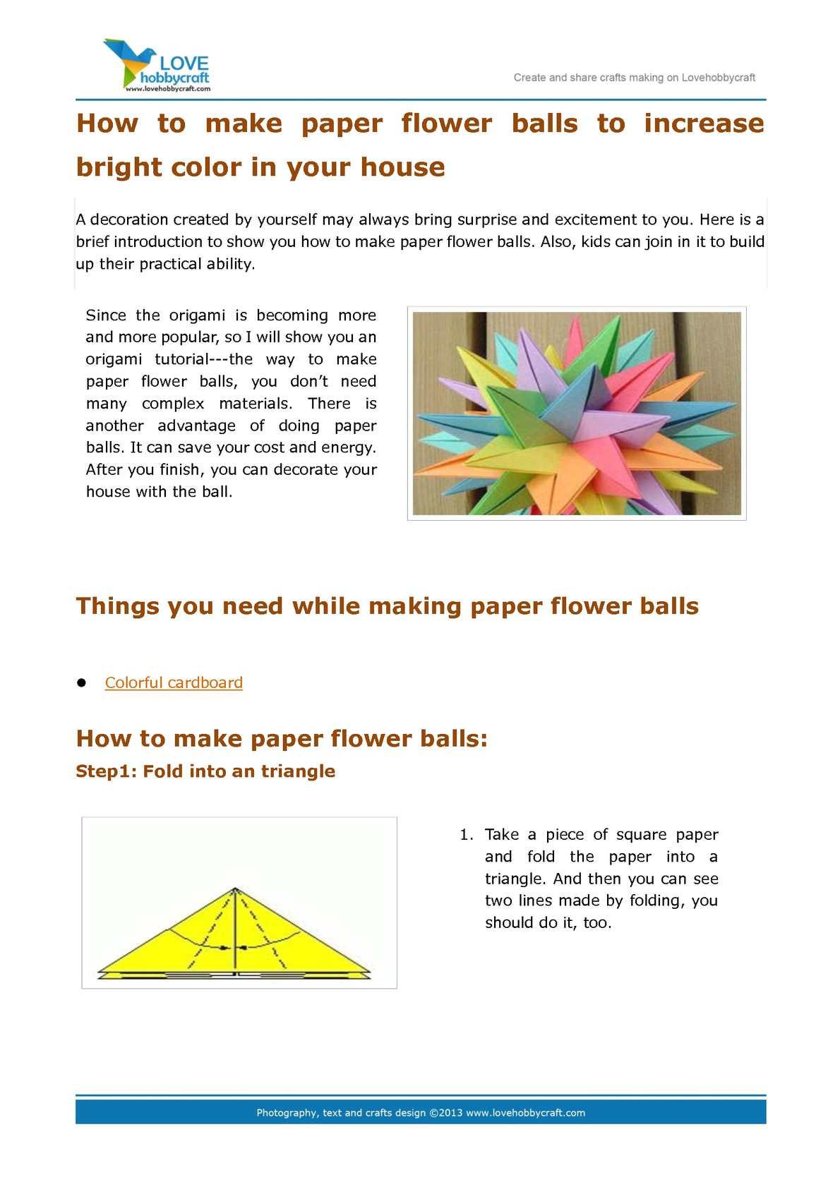 Calamo How To Make Paper Flower Balls