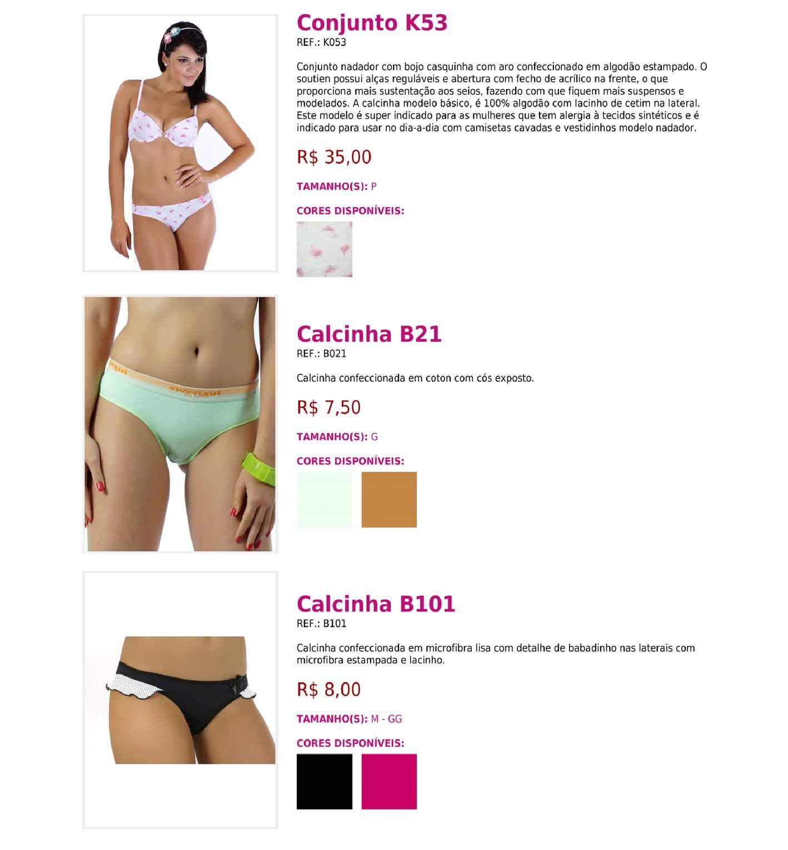 Lingerie - Catálogo 1