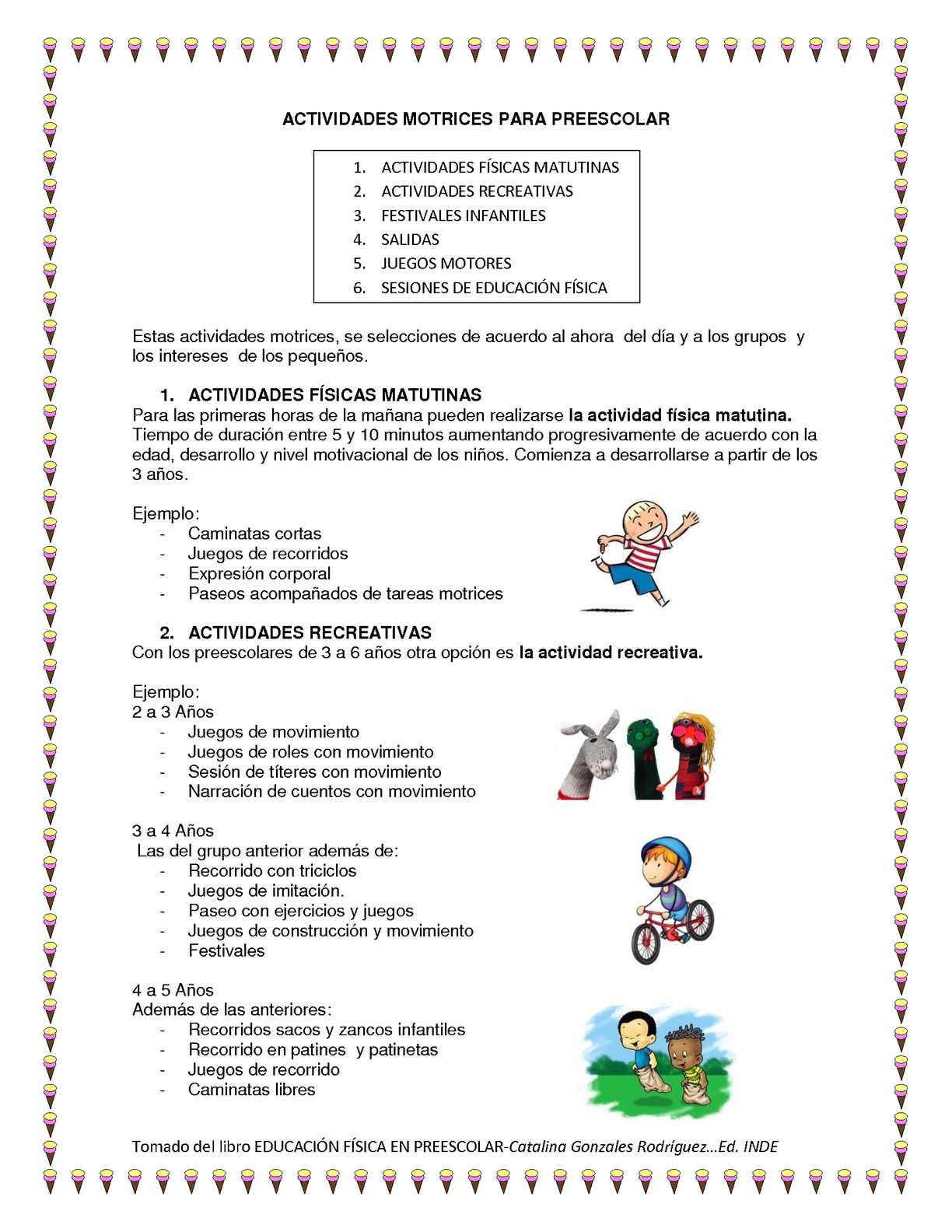 Calam o ejercicios de educacion fisica para preescolar for Actividades recreativas en el salon de clases