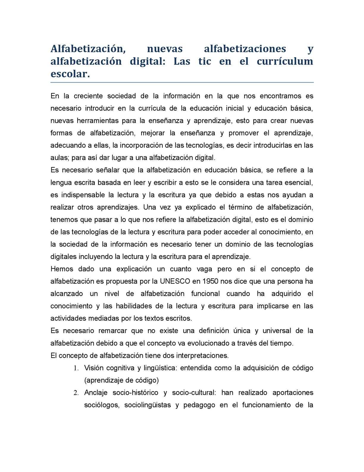 Calaméo - Alfabetización, nuevas alfabetizaciones y alfabetización ...