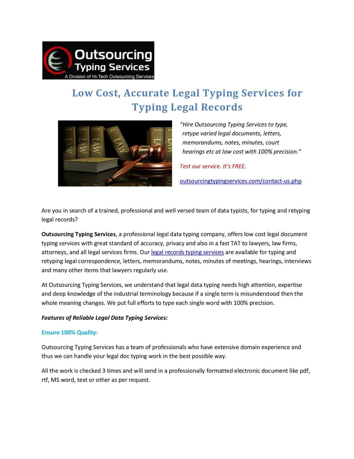 Calaméo Low Cost Accurate Legal Typing Services For Typing Legal - Legal type documents