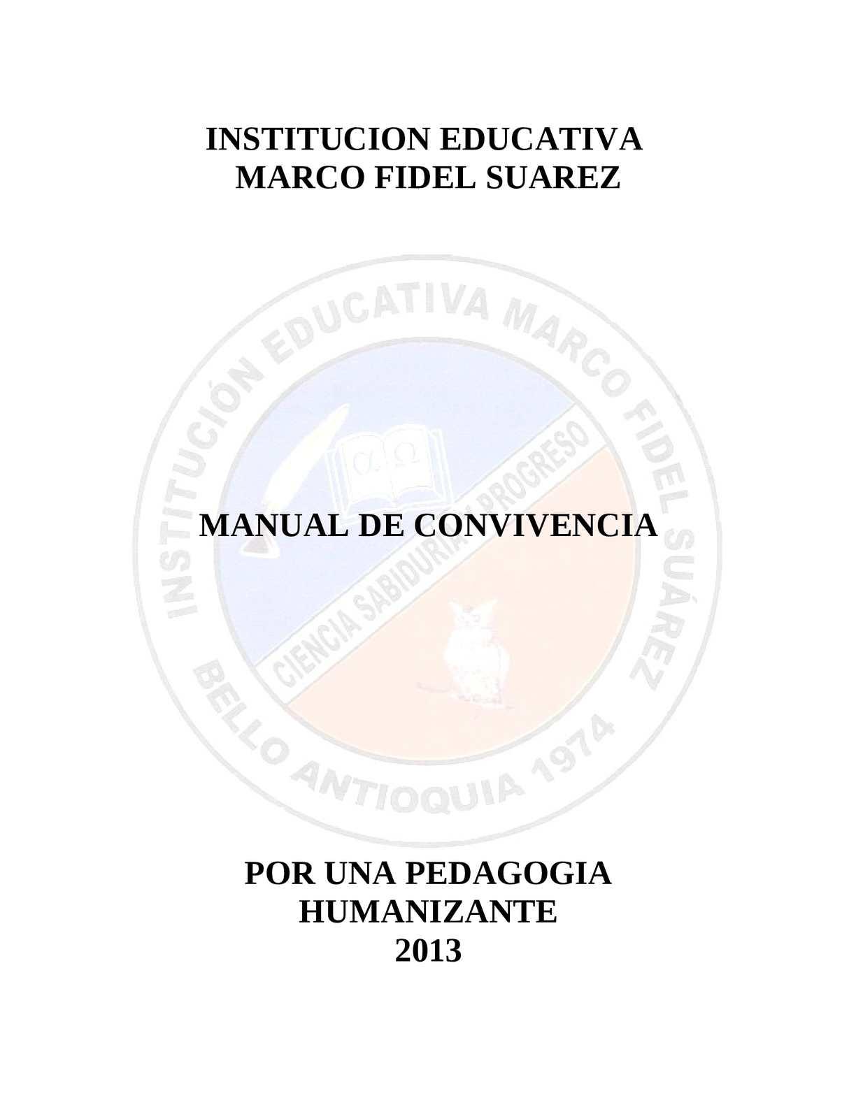 Calaméo - MANUAL DE CONVIVENCA IEMFS