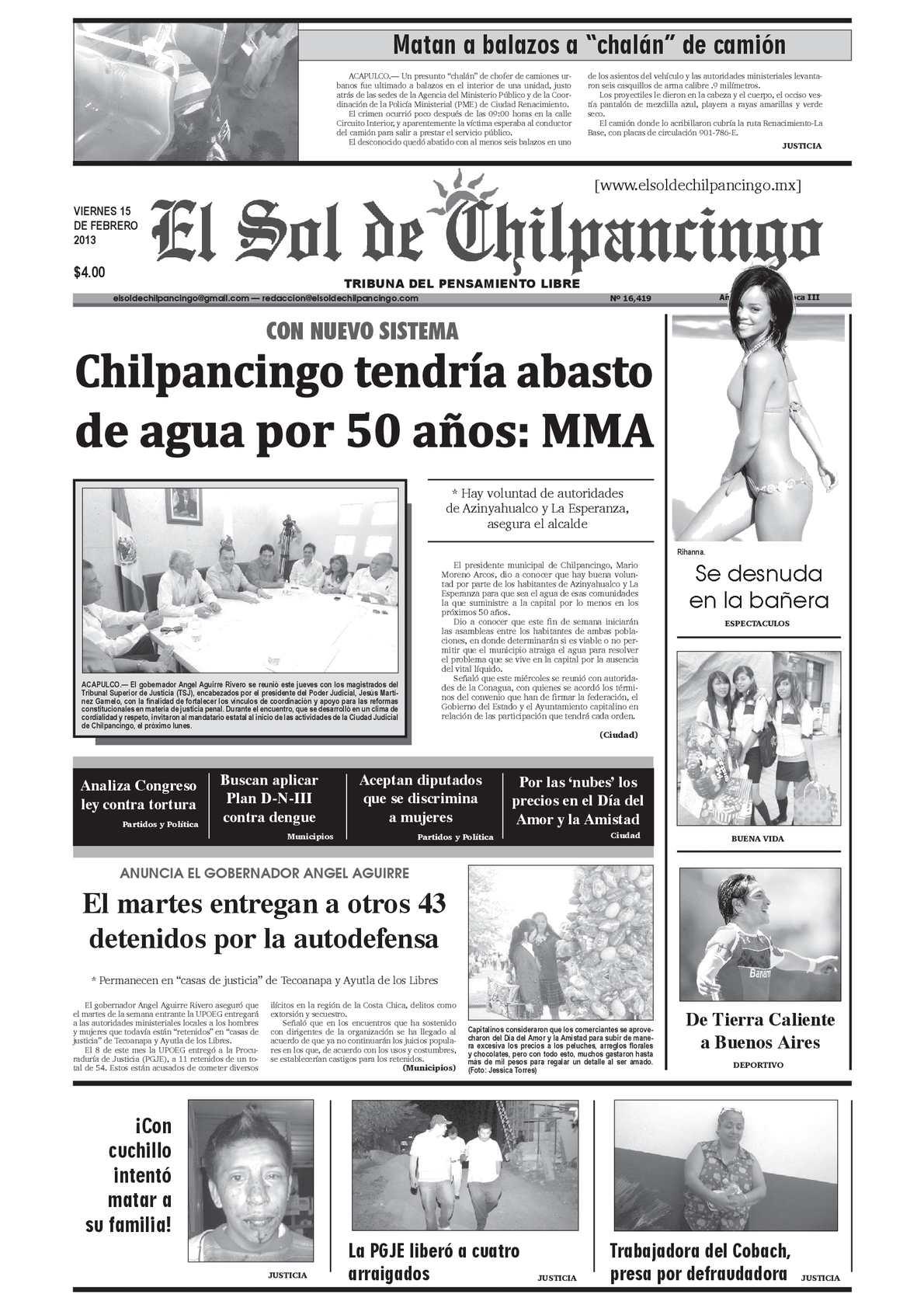 Calaméo - El Sol de Chilpancingo - 15 Febrero 2013