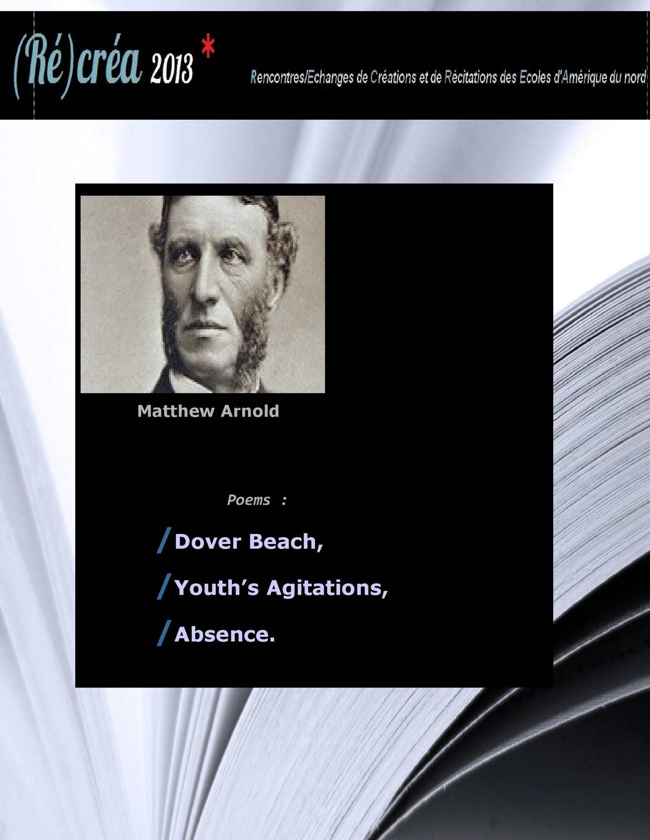 an examination of dover beach by matthew arnold English poem - dover beach by matthew arnold matthew arnold dover beach poem animation - duration: 2:19 poetryreincarnations 5,315 views 2:19.