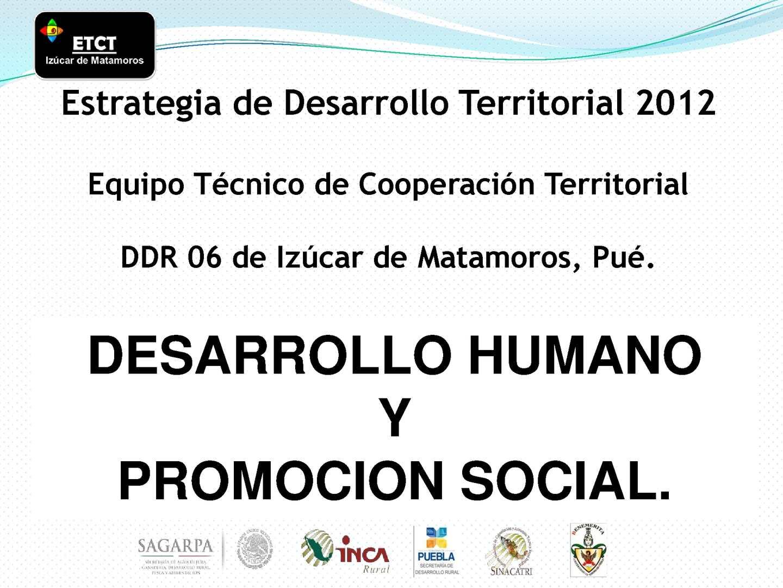 Desarrollo humano y promoción social