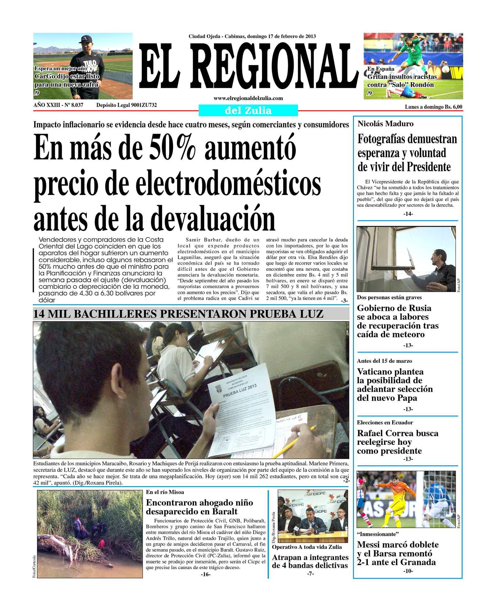 Calaméo - El Regional del Zulia 17-02-2013