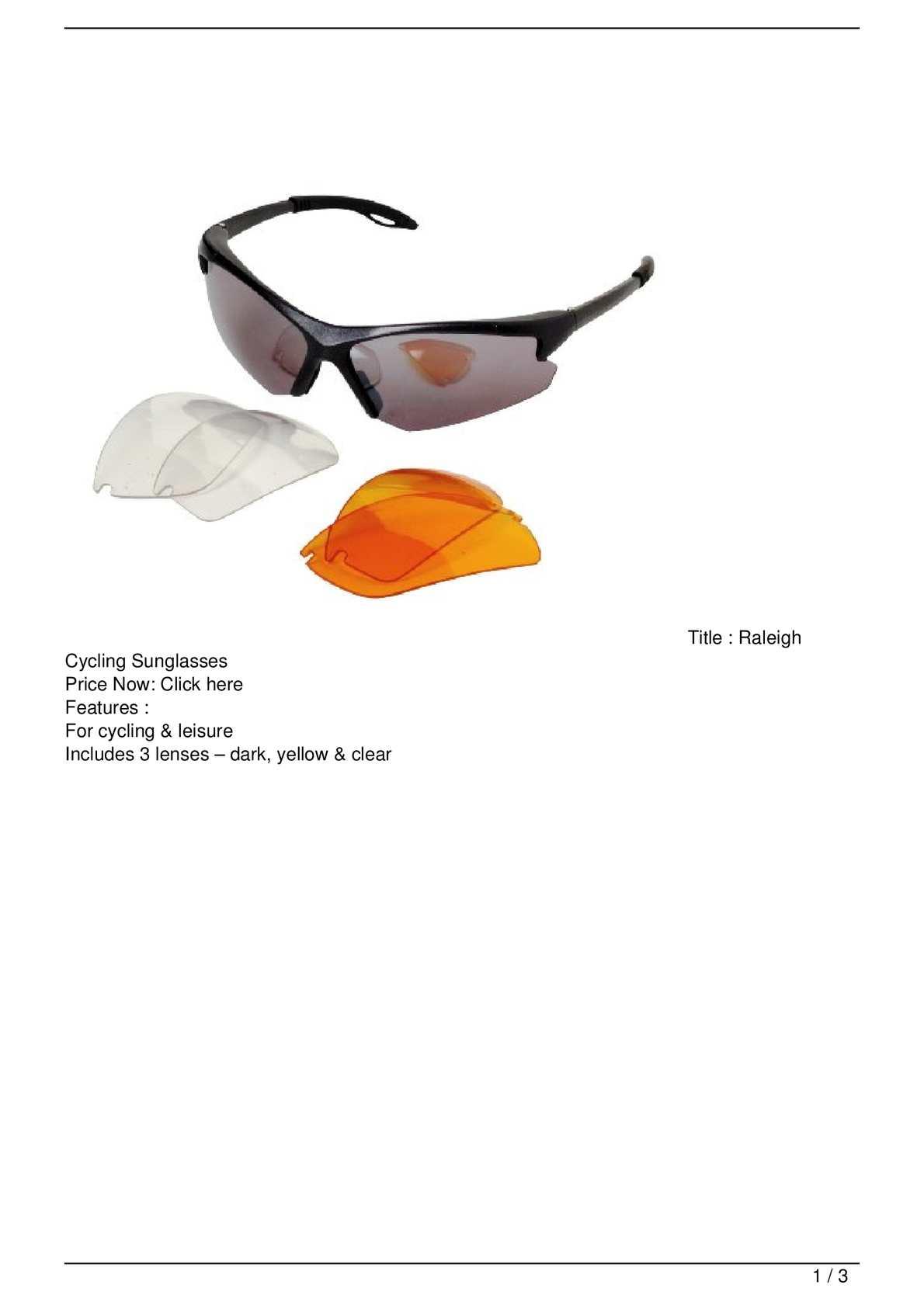 8a7c225fd5 Calaméo - Raleigh Cycling Sunglasses Discount !!
