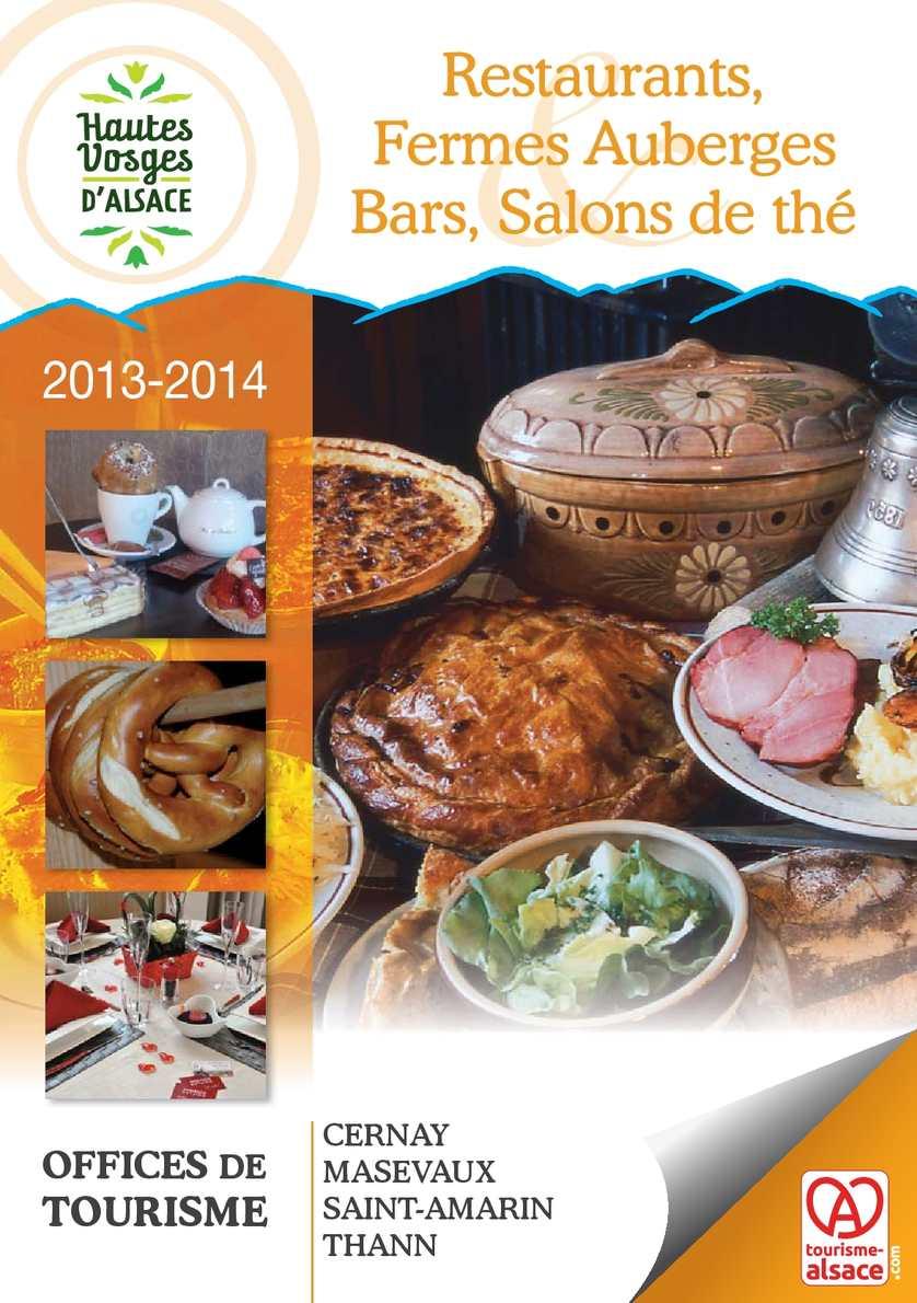 Calam o guide des restaurants fermes auberges bars et salons de th 2013 hautes vosges d - Office de tourisme de cernay ...