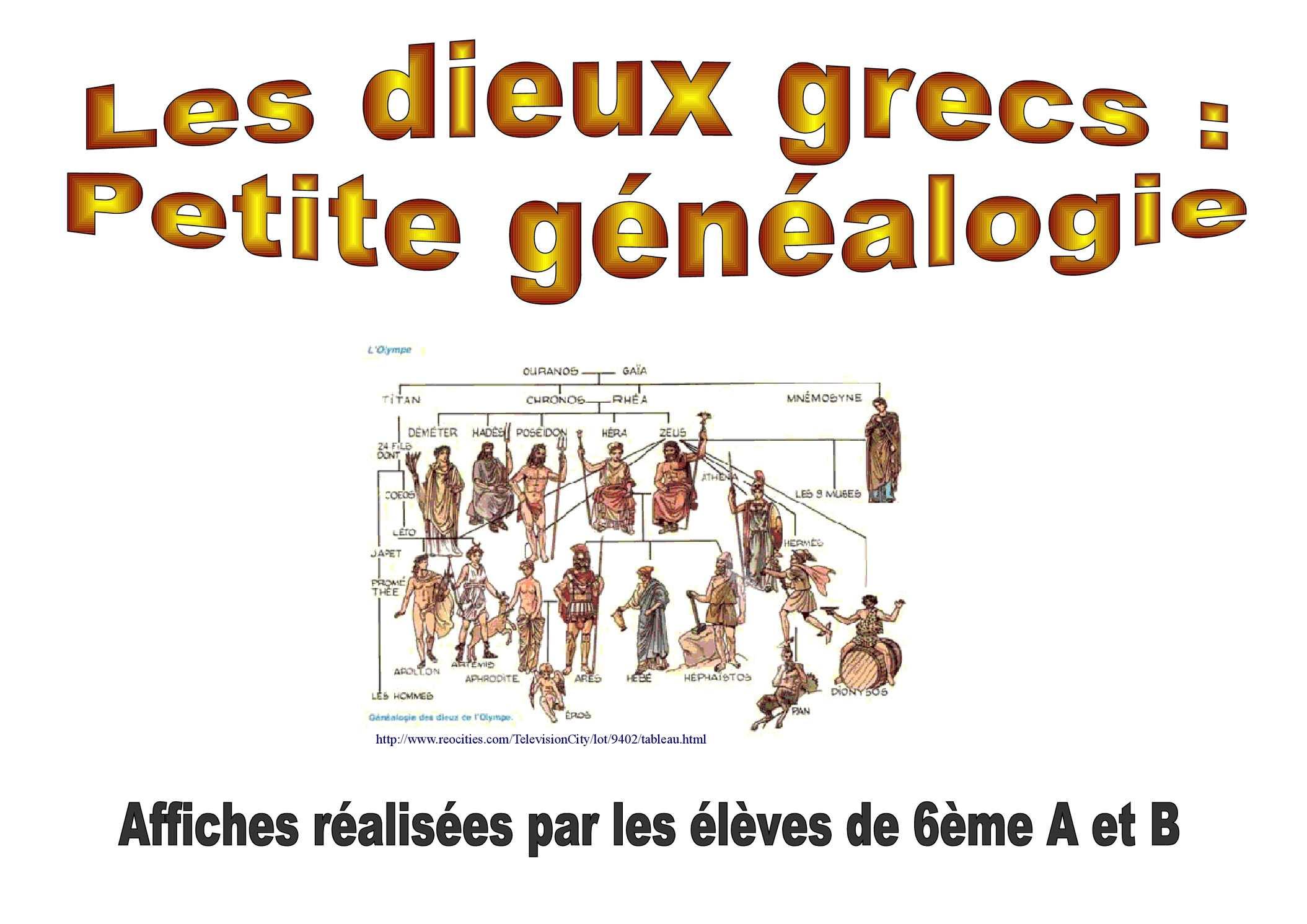 Super Calaméo - Les dieux grecs : petite généalogie ZO73