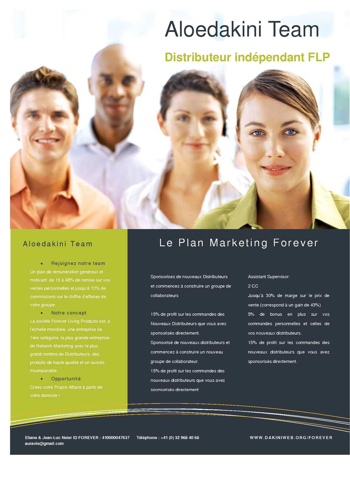 Plan marketing Aloedakini Team