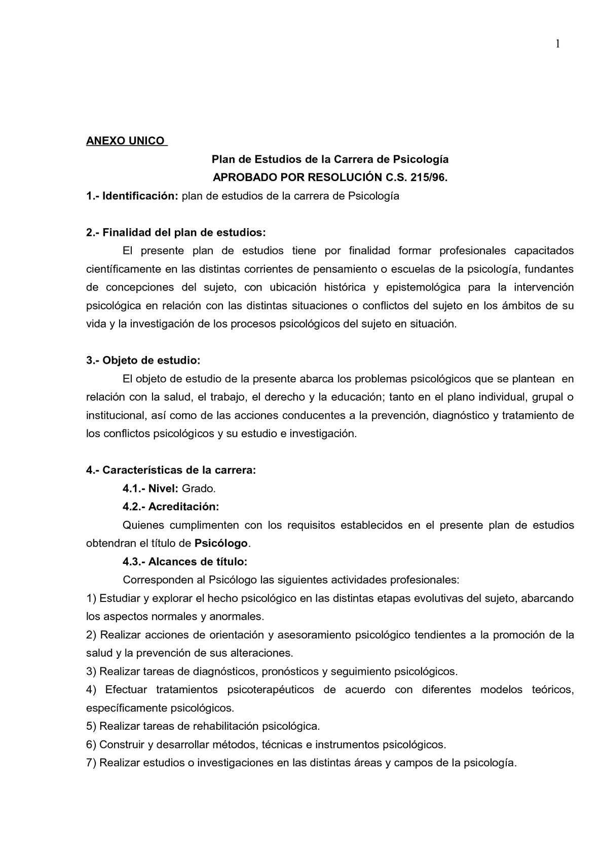 Calaméo - Plan de Estudios de Psicología