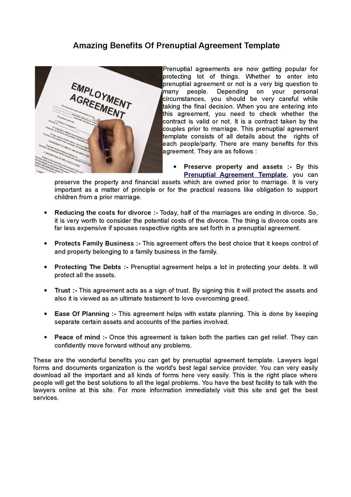 Calaméo - Prenuptial Agreement Template