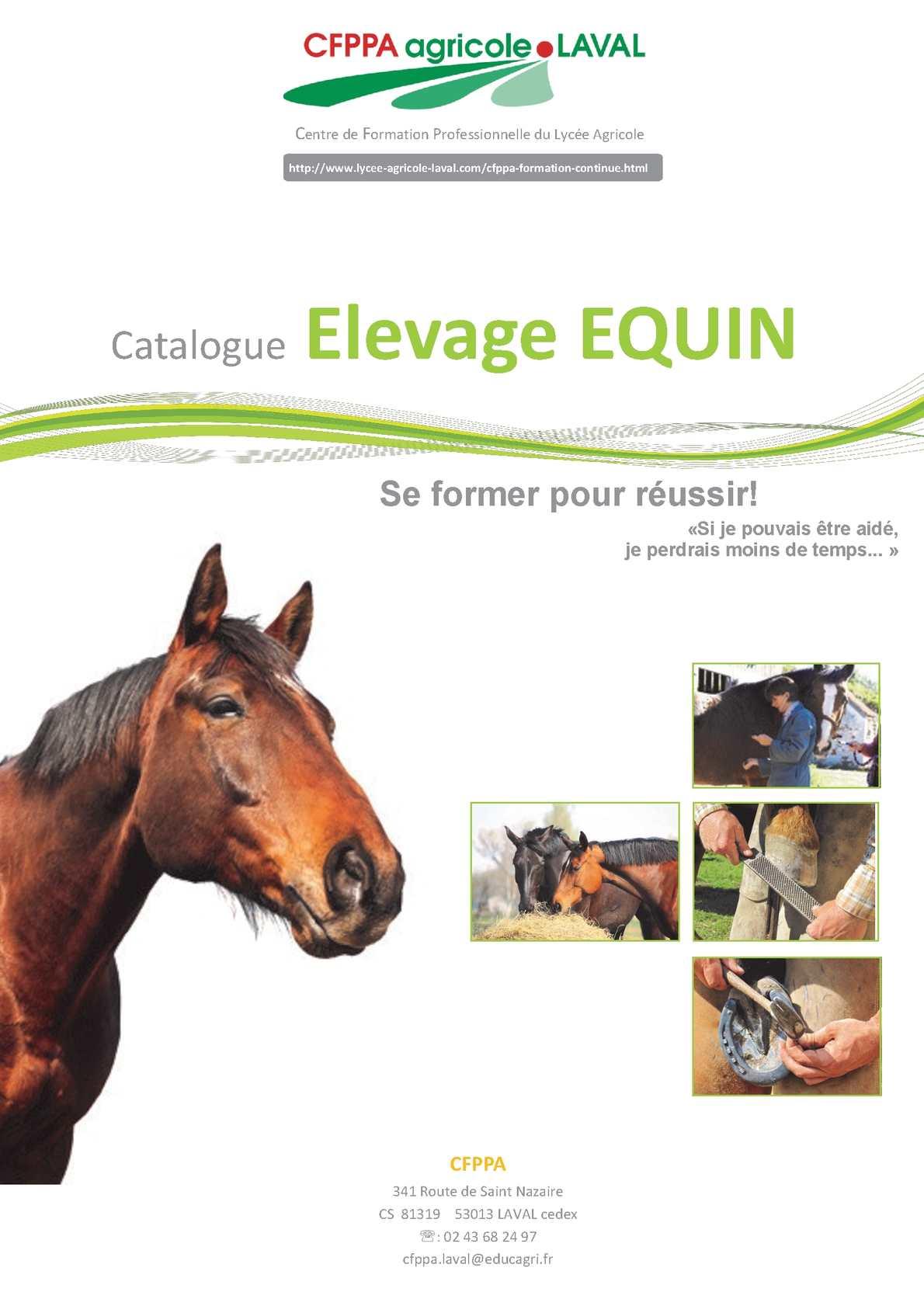 Catalogue Formation Elevage Equin