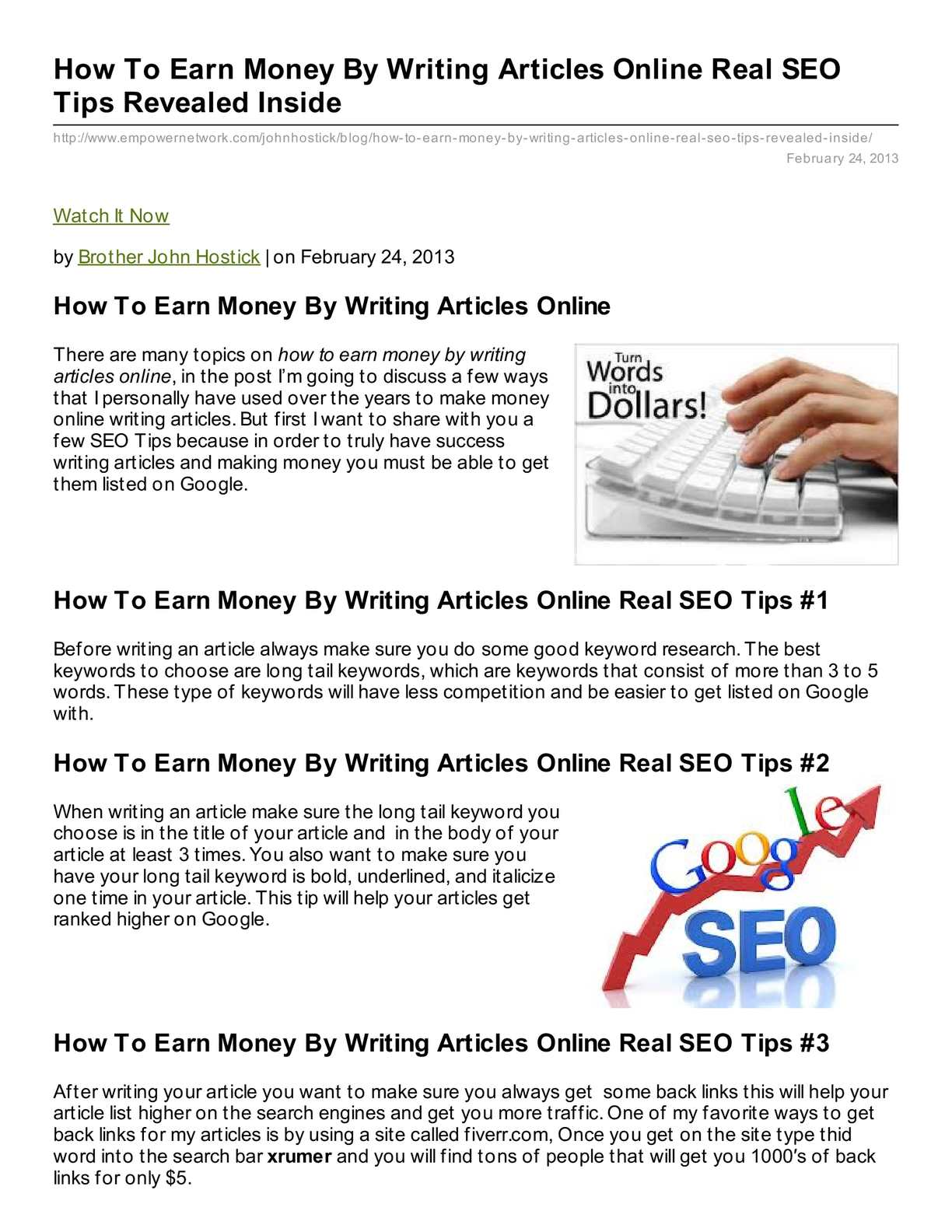 best topics for writing articles