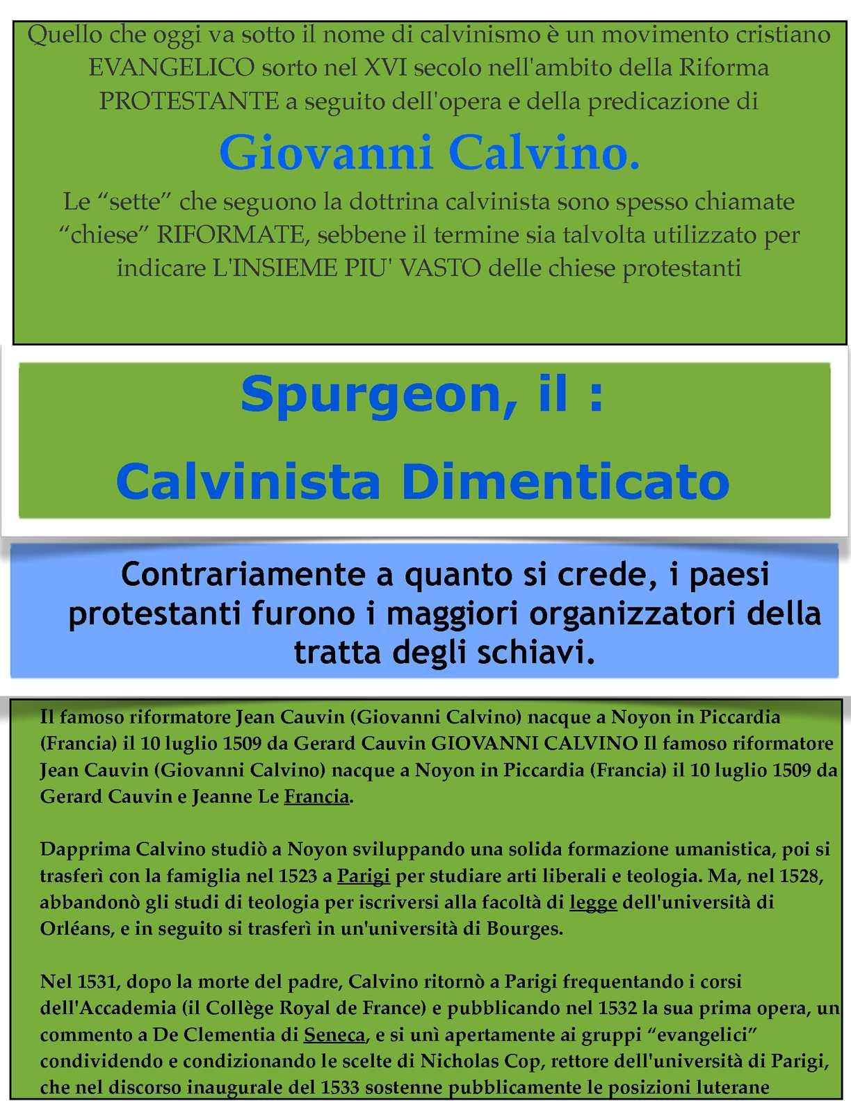 """CALVINO E SPURGEON  """"IL SAPONE DELL' ANTICRISTO CON CUI """"LAVARE"""" LE COSCIENZE..."""""""