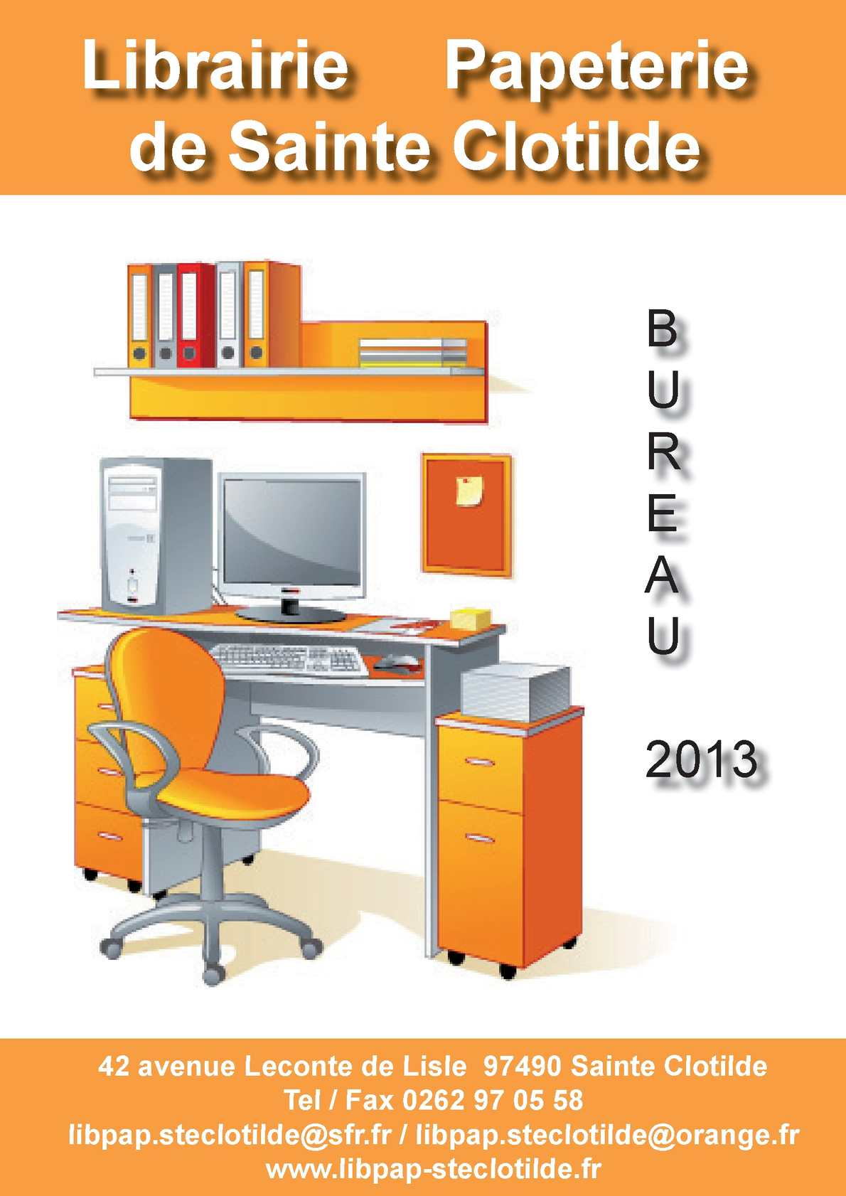 Calam o catalogue bureau librairie de sainte clotilde for Catalogue de bureau