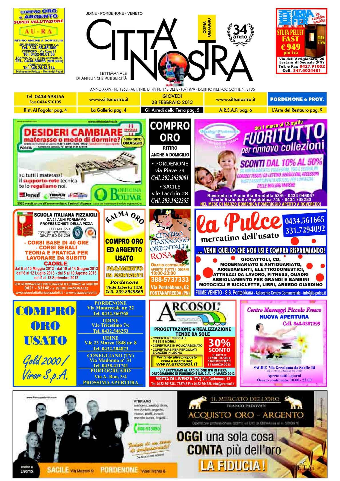 Calaméo Citt Nostra Pordenone Del 28 02 2013 N 1363