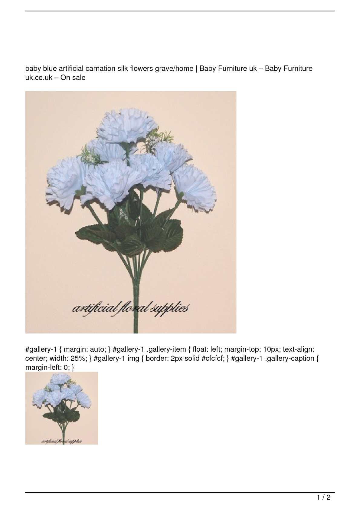 Calamo Baby Blue Artificial Carnation Silk Flowers Gravehome