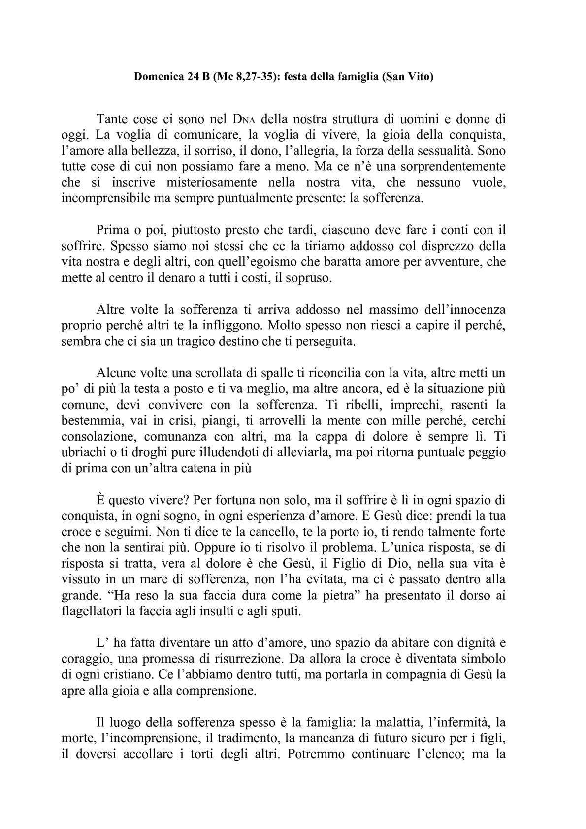 Calaméo Domenica 24 B Festa Della Famiglia San Vito