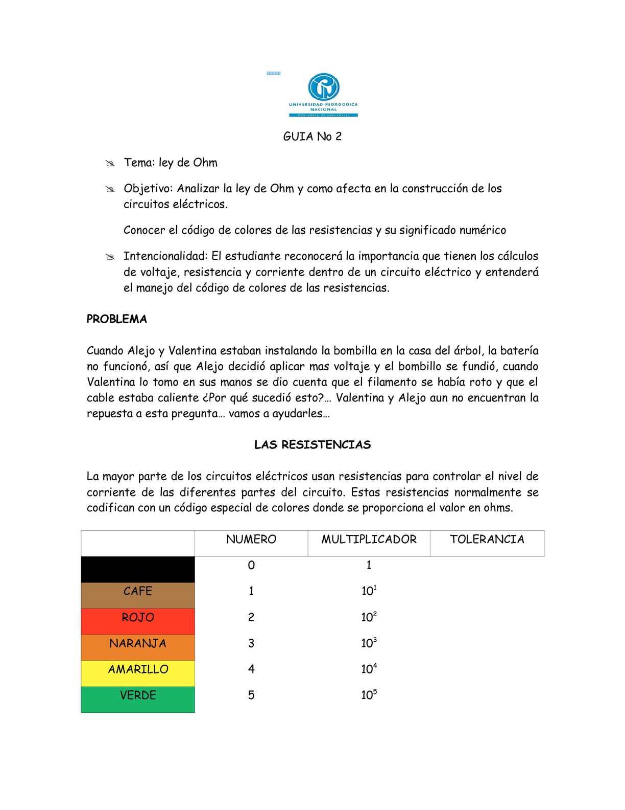 Circuito Significado : Calaméo guÍa ley de ohm