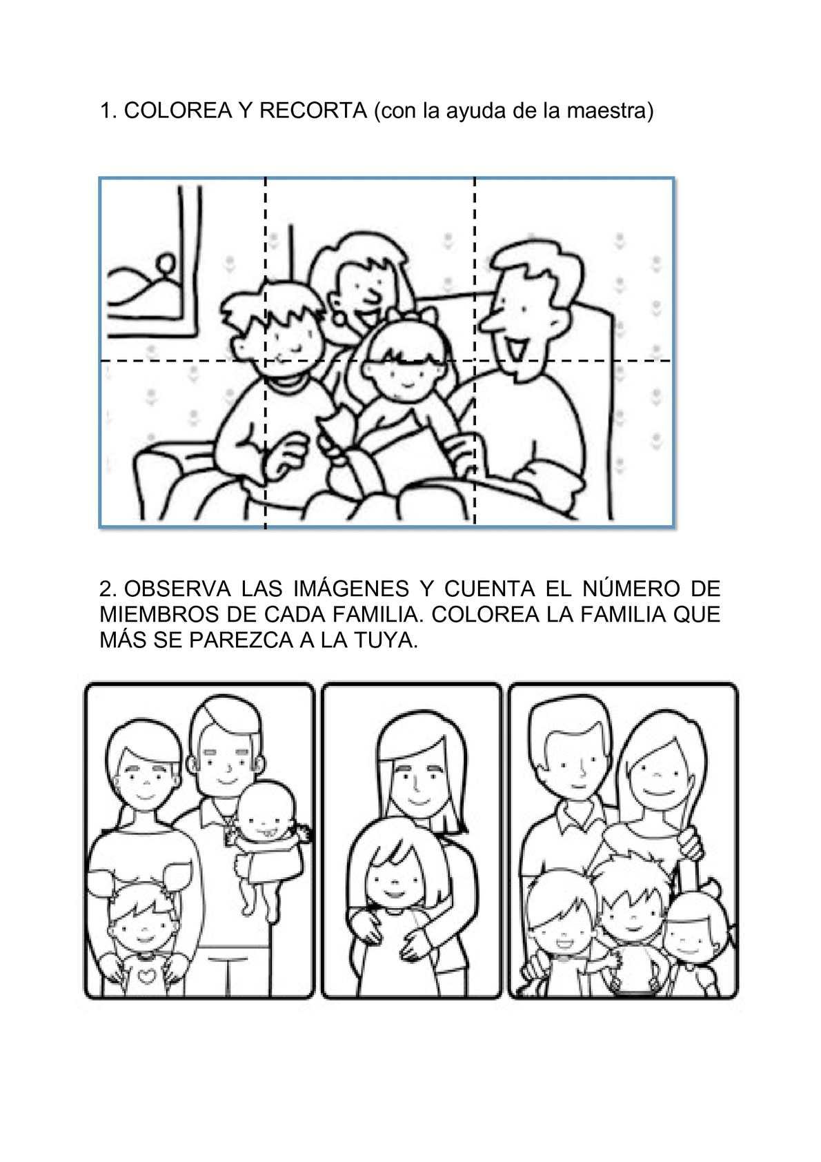 Calaméo - Fichas para trabajar la familia. Educación Infantil
