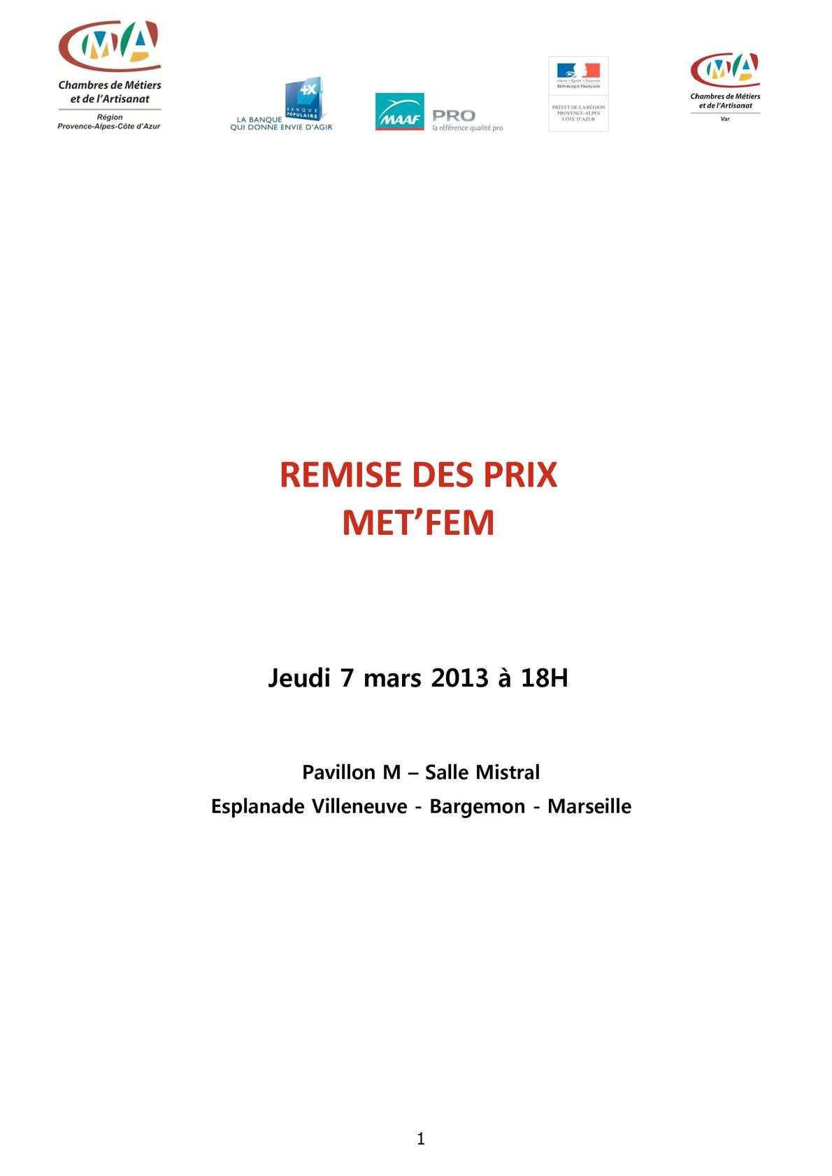 Calaméo Dossier de Presse METFEM
