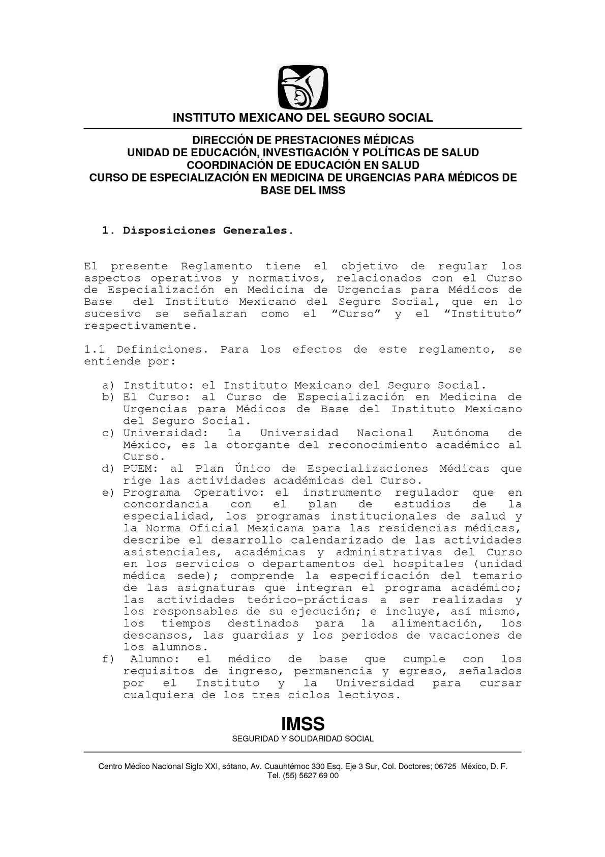 Calaméo - Reglamento del Curso de Especializacion en