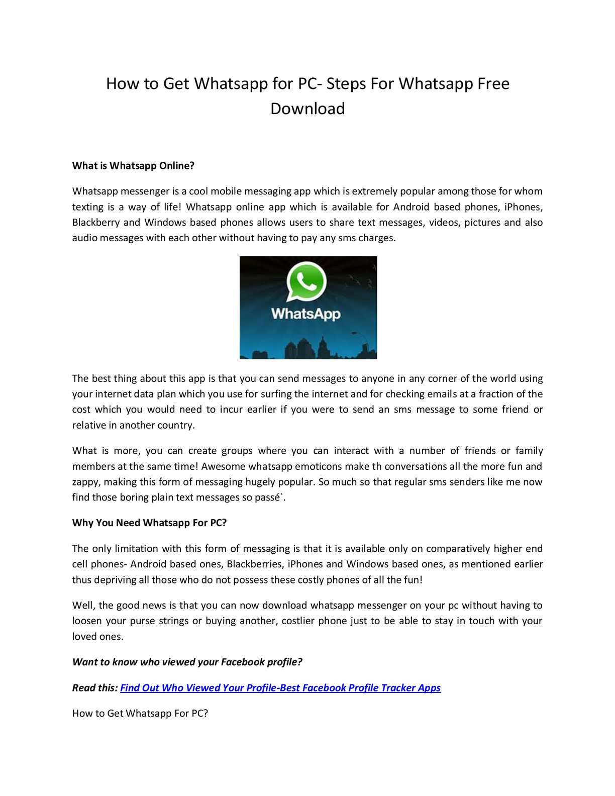 android whatsapp messenger for pc free download