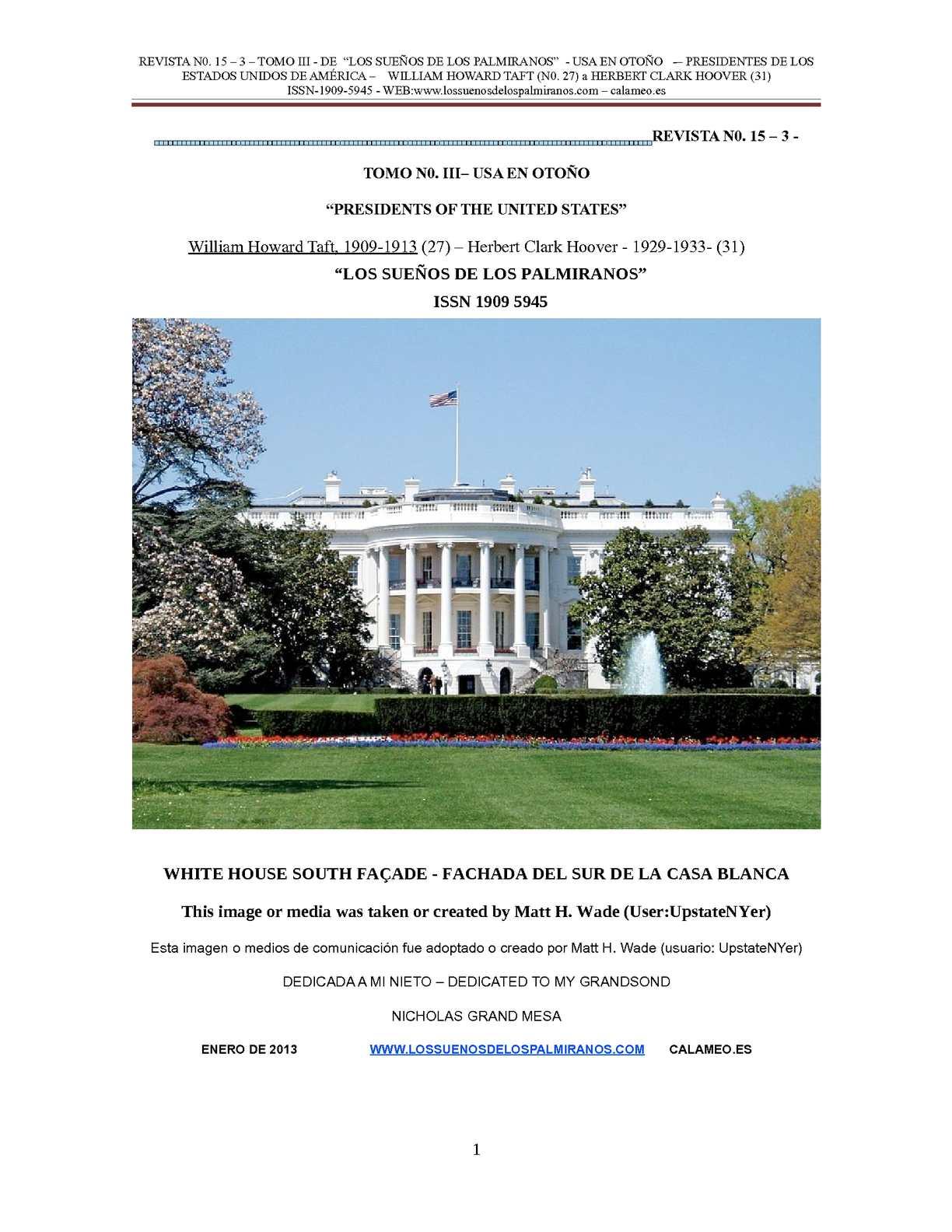 Calaméo - REVISTA N0. 15-3 - TOMO III - PRESIDENTES USA - WILLIAM ...