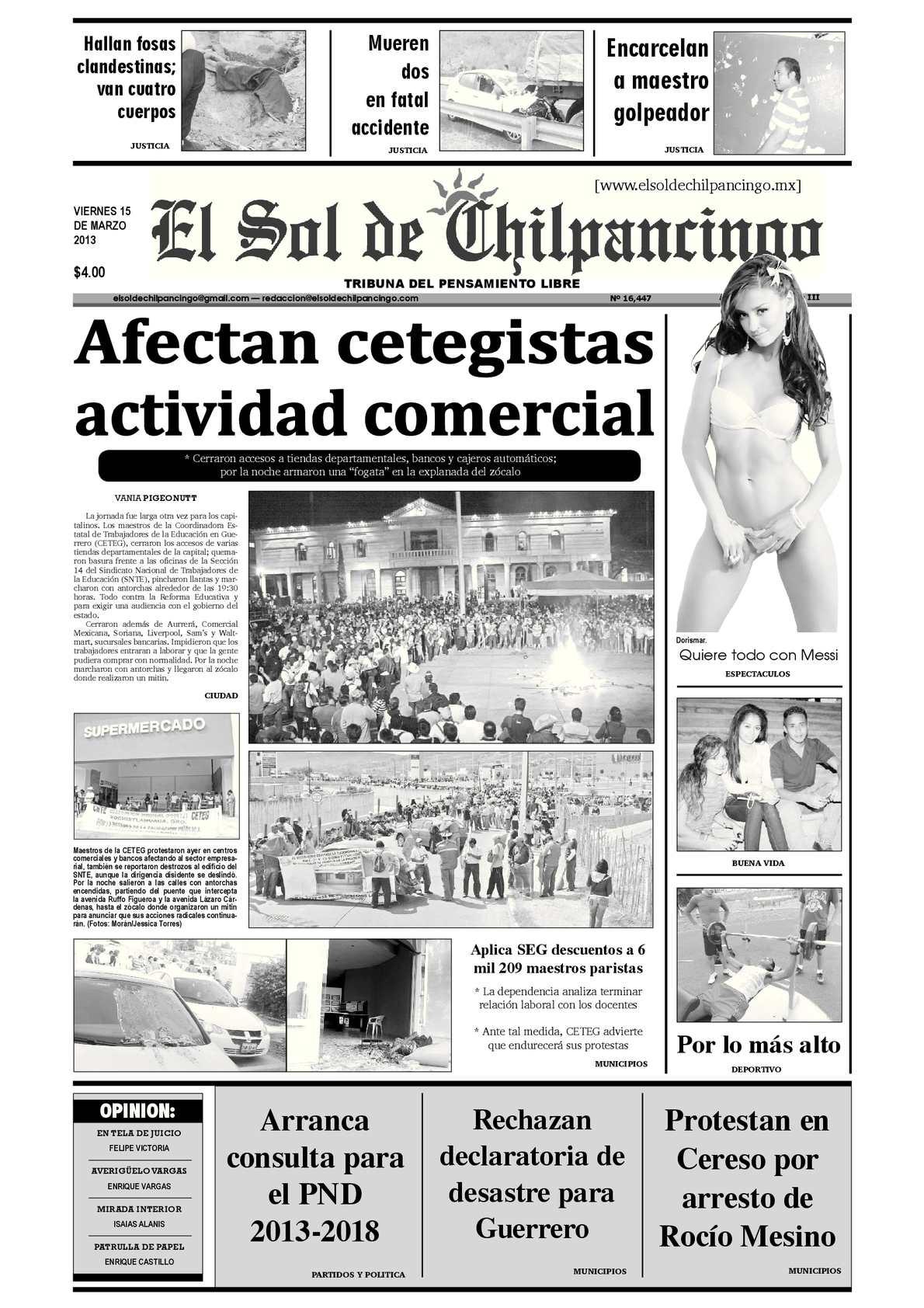 Calaméo - El Sol de Chilpancingo - 15 Marzo 2013