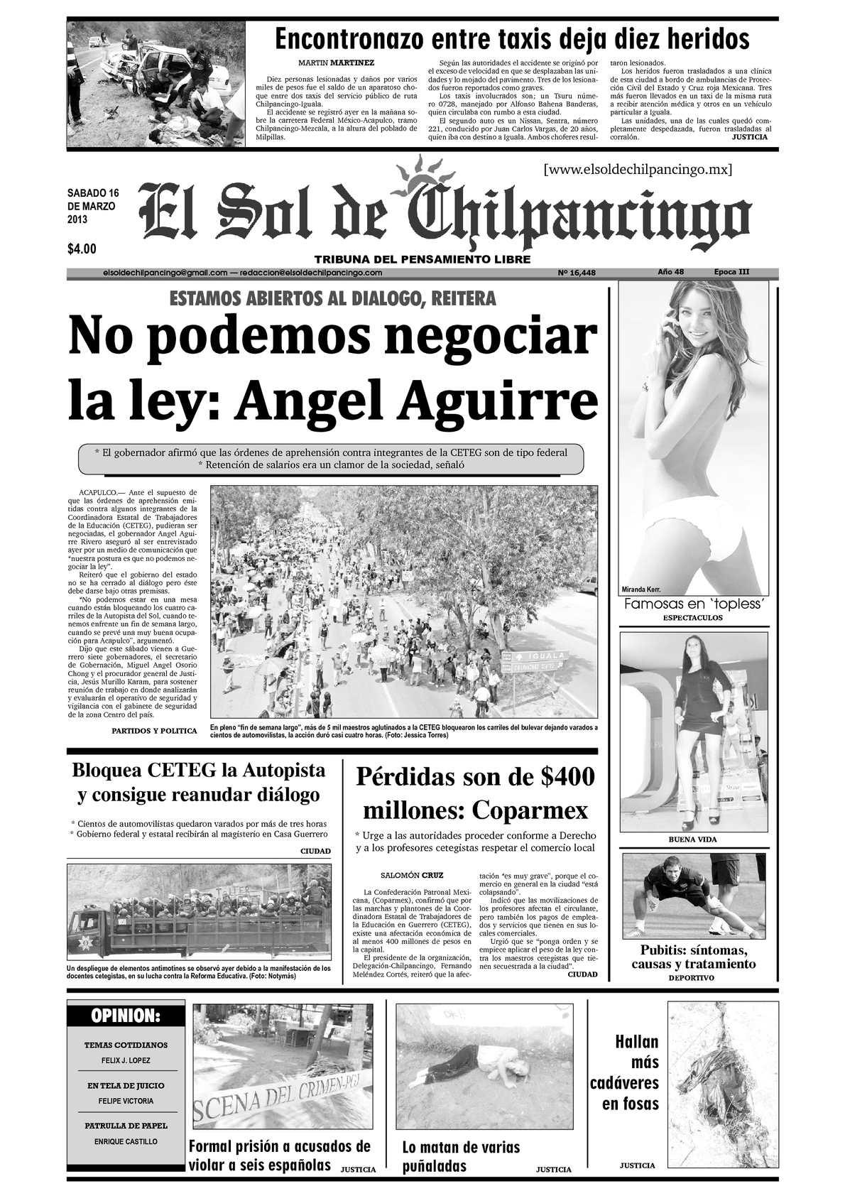 Calaméo - El Sol de Chilpancingo - 16 Marzo 2013