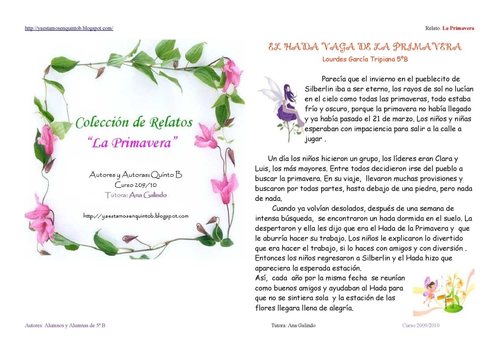 """Relatos """"La Primavera"""""""