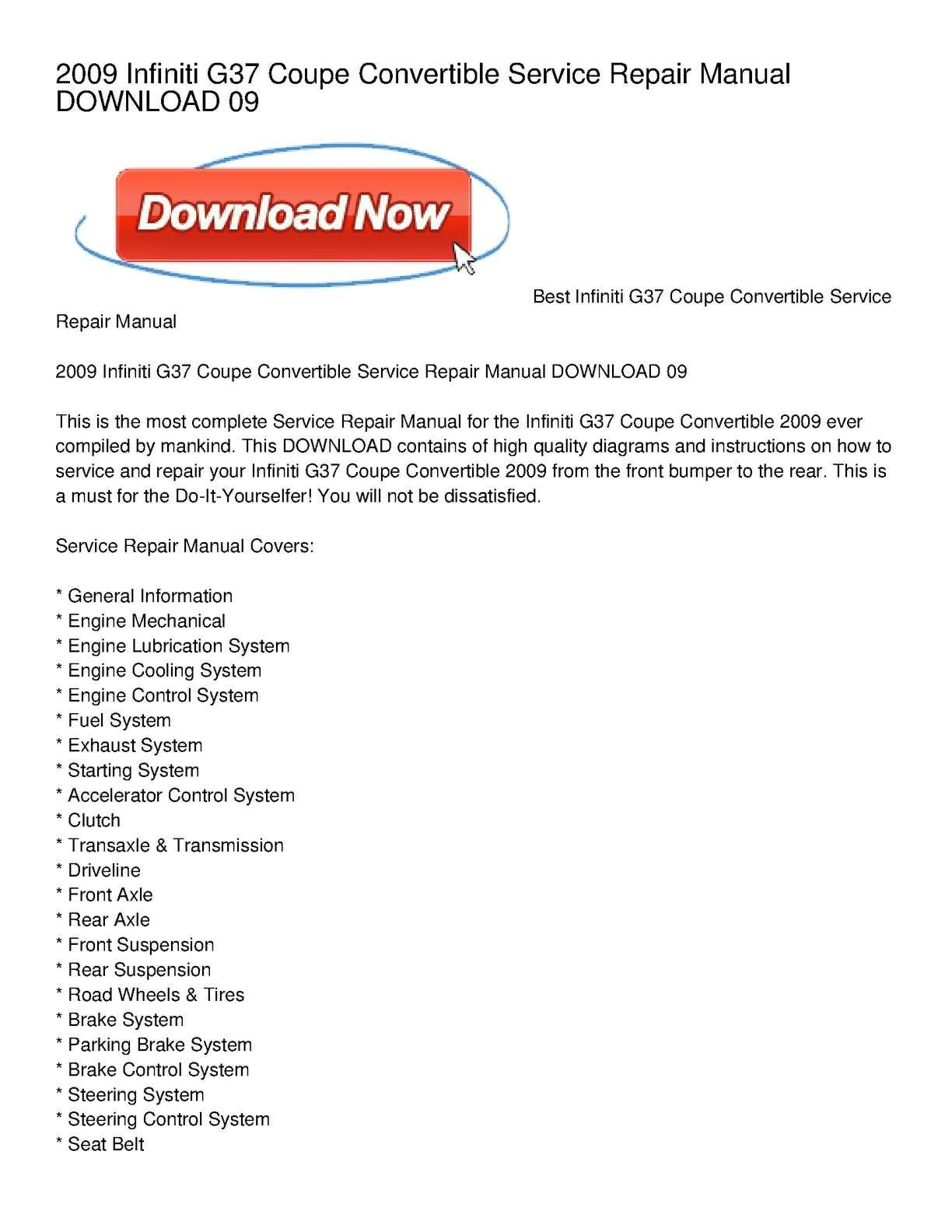 Calamo 2009 Infiniti G37 Coupe Convertible Service Repair Manual Fuel Pump Diagram Download 09