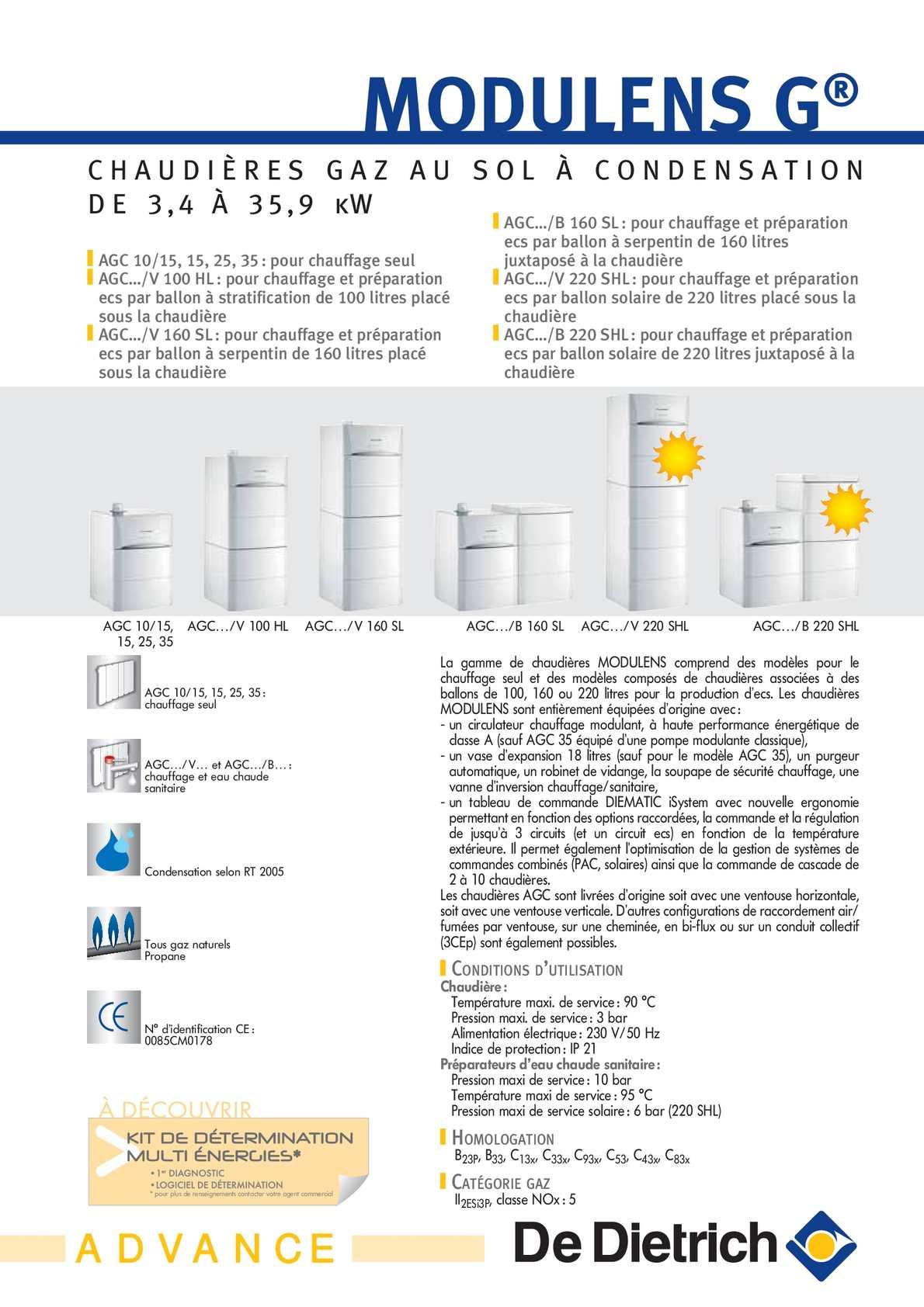 Calam o chaudi re gaz au sol condensation for Chaudiere de dietrich gaz au sol