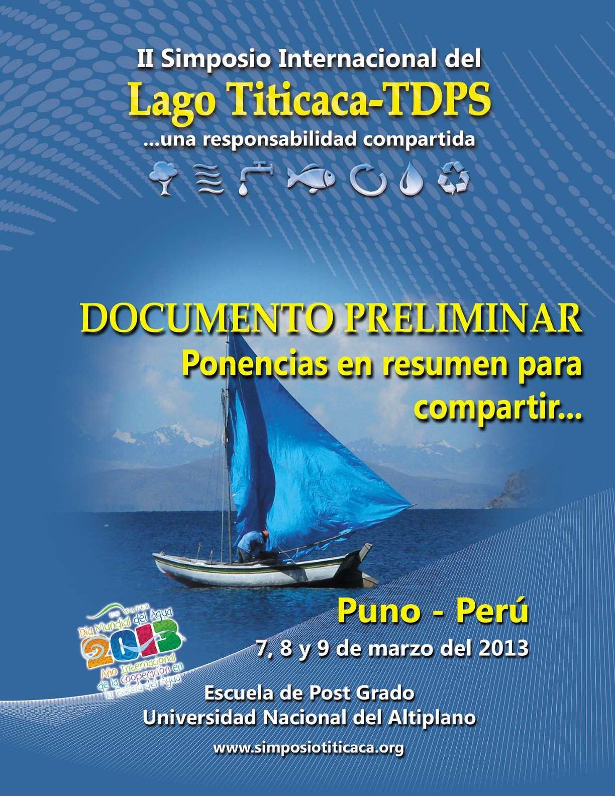 Resumen de Ponencias del II Simposio Internacional del Lago Titicaca - TDPS